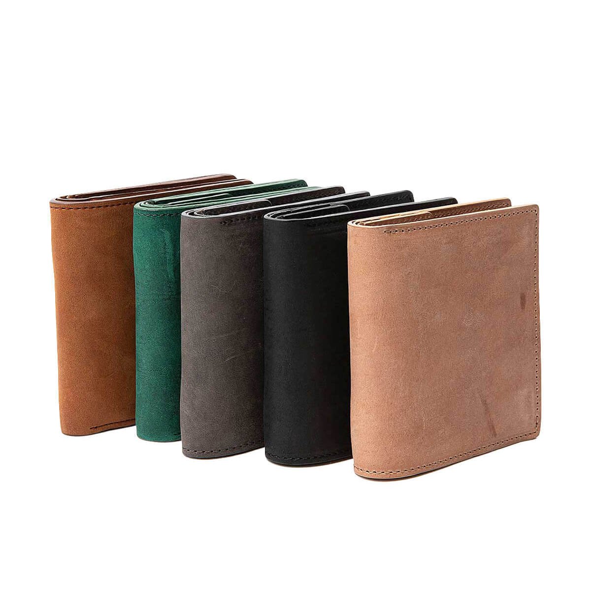HOBO / NUBUCK COW LEATHER BIFOLD WALLET (5Collar)