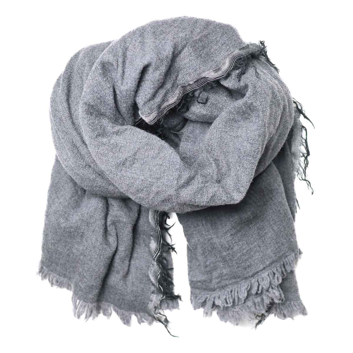 HTS / Solid Square Stole (Grey) 全体