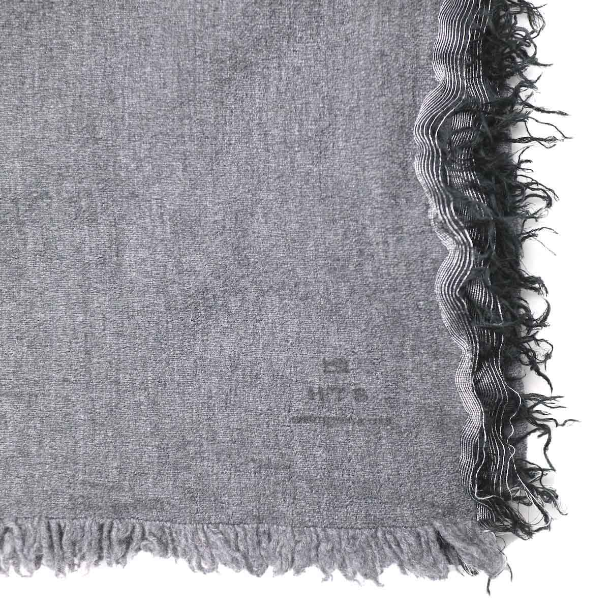 HTS / Solid Square Stole (Grey) フリンジ