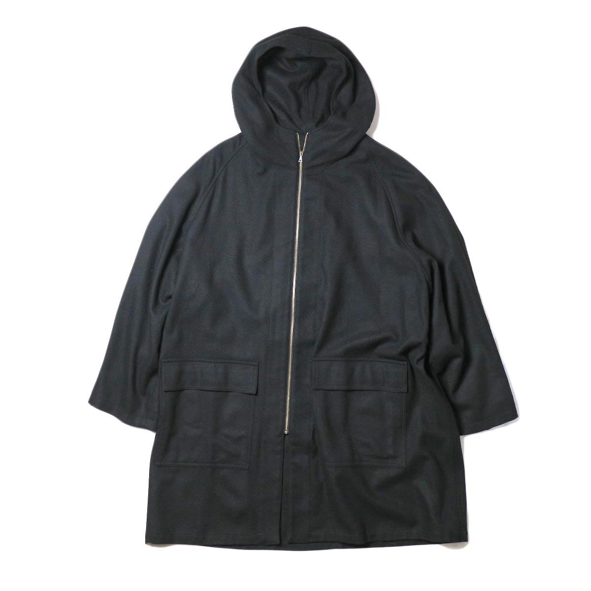 HTS / HOODED COAT (Black)