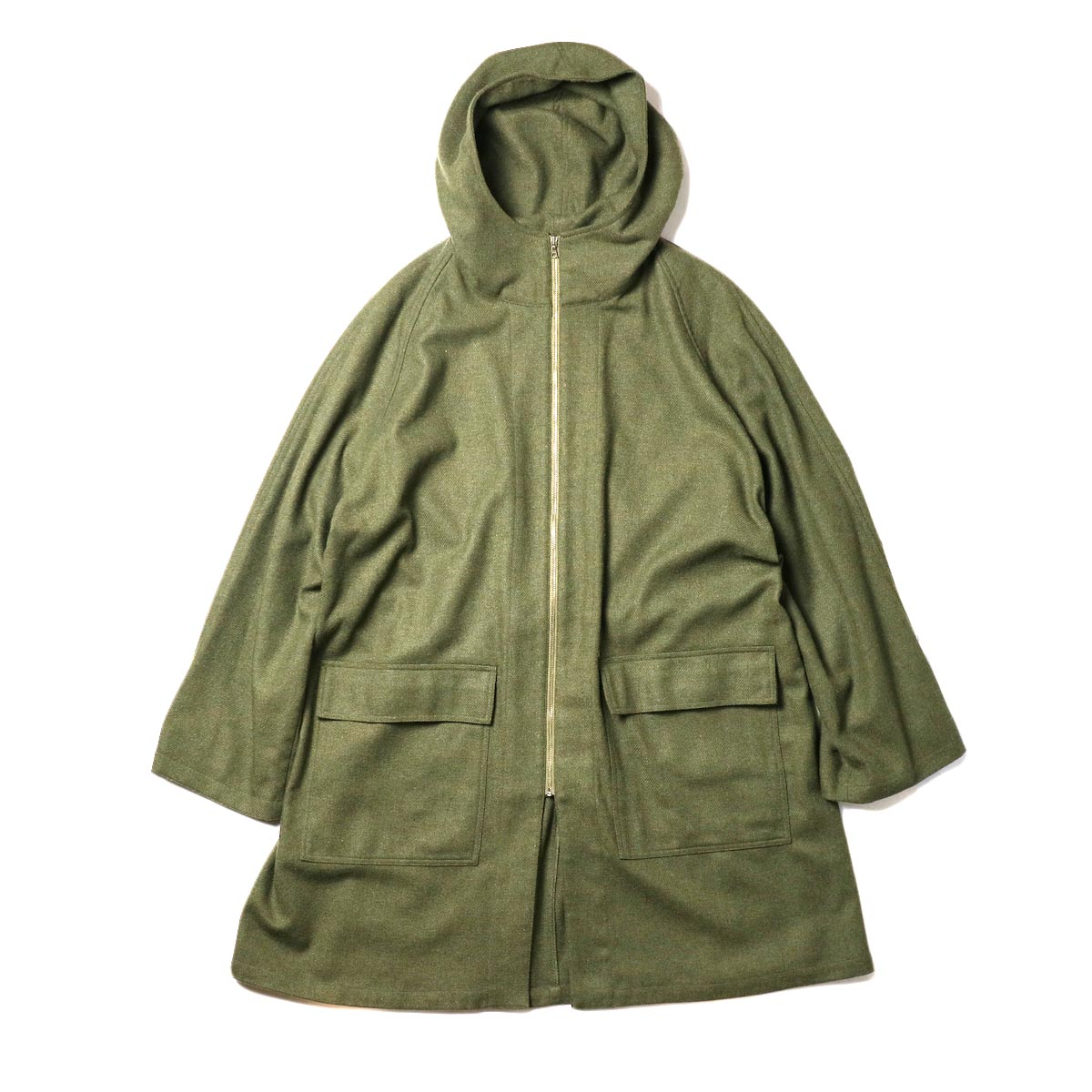 HTS / HOODED COAT (Olive)