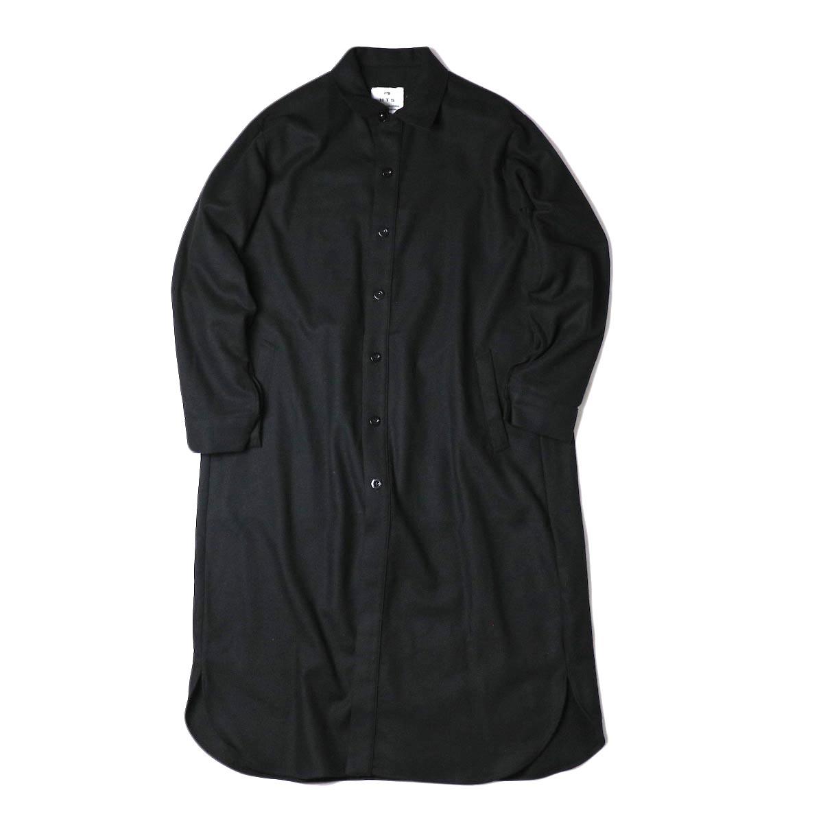 HTS / WORK BUTTON LONG SHIRT (Black)