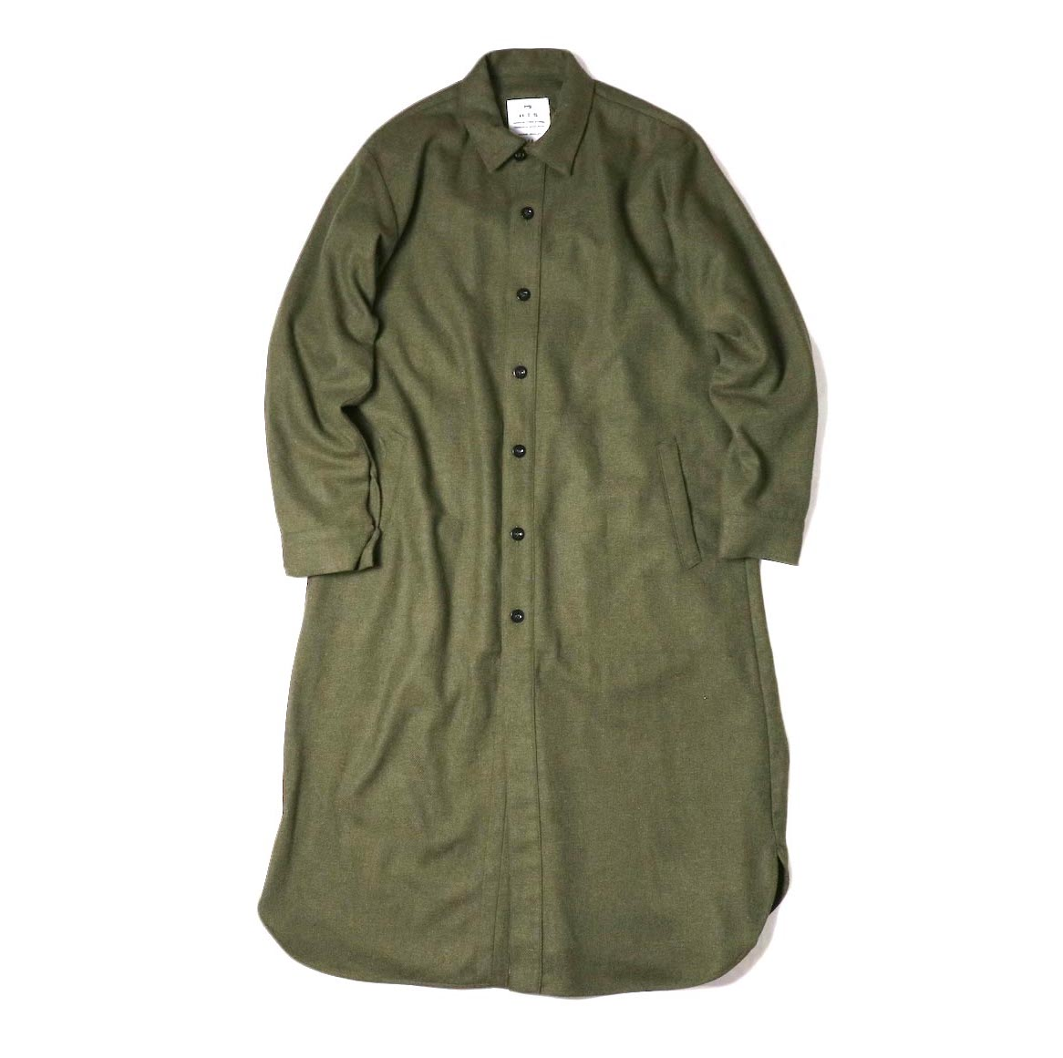 HTS / WORK BUTTON LONG SHIRT (Olive)