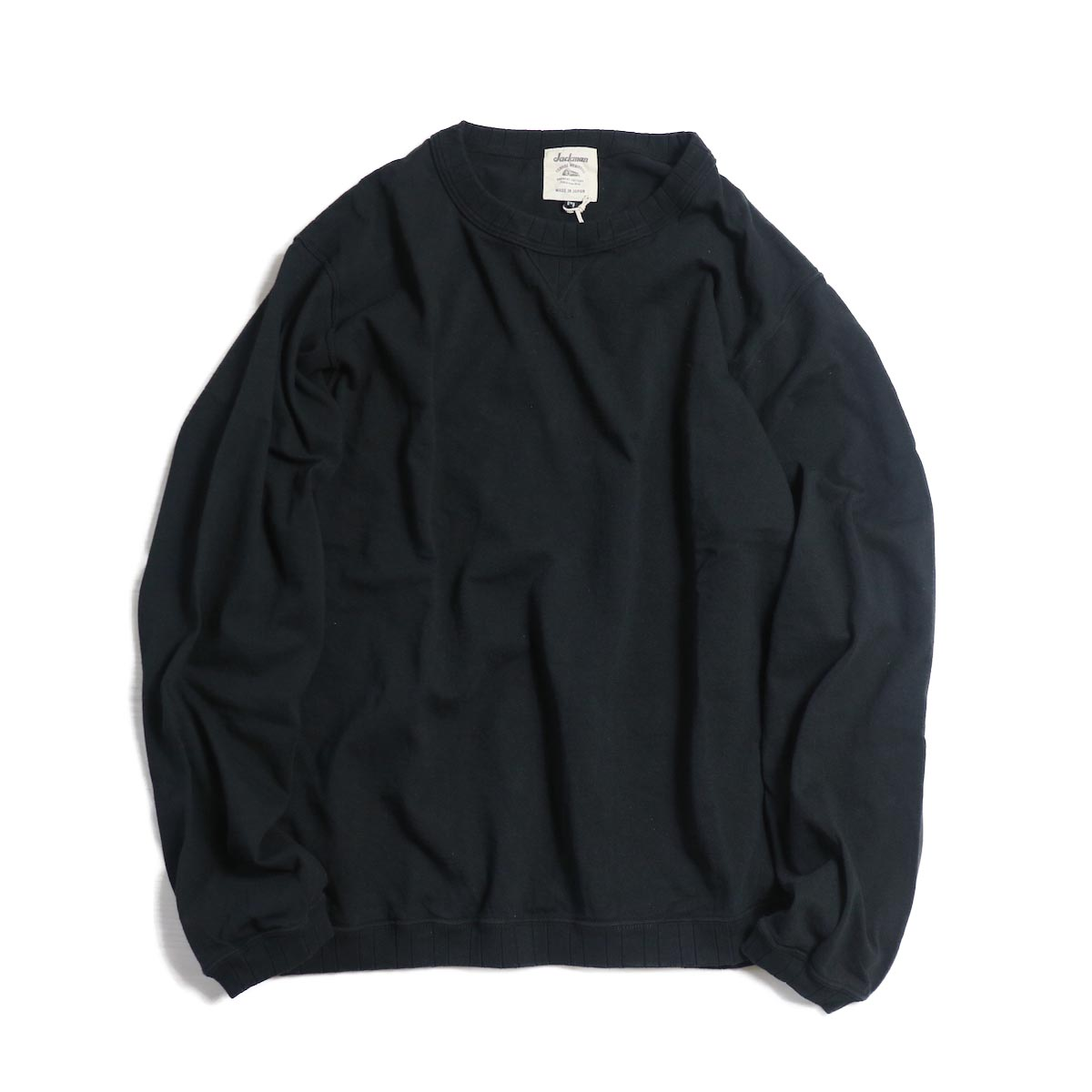Jackman / Rib Long Sleeve -BLACK