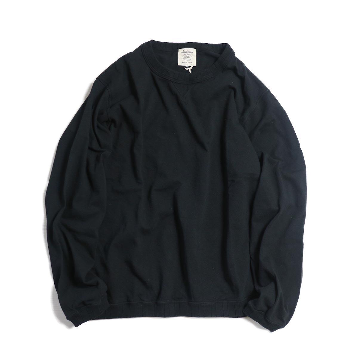 Jackman / Rib Long Sleeve -BLACK