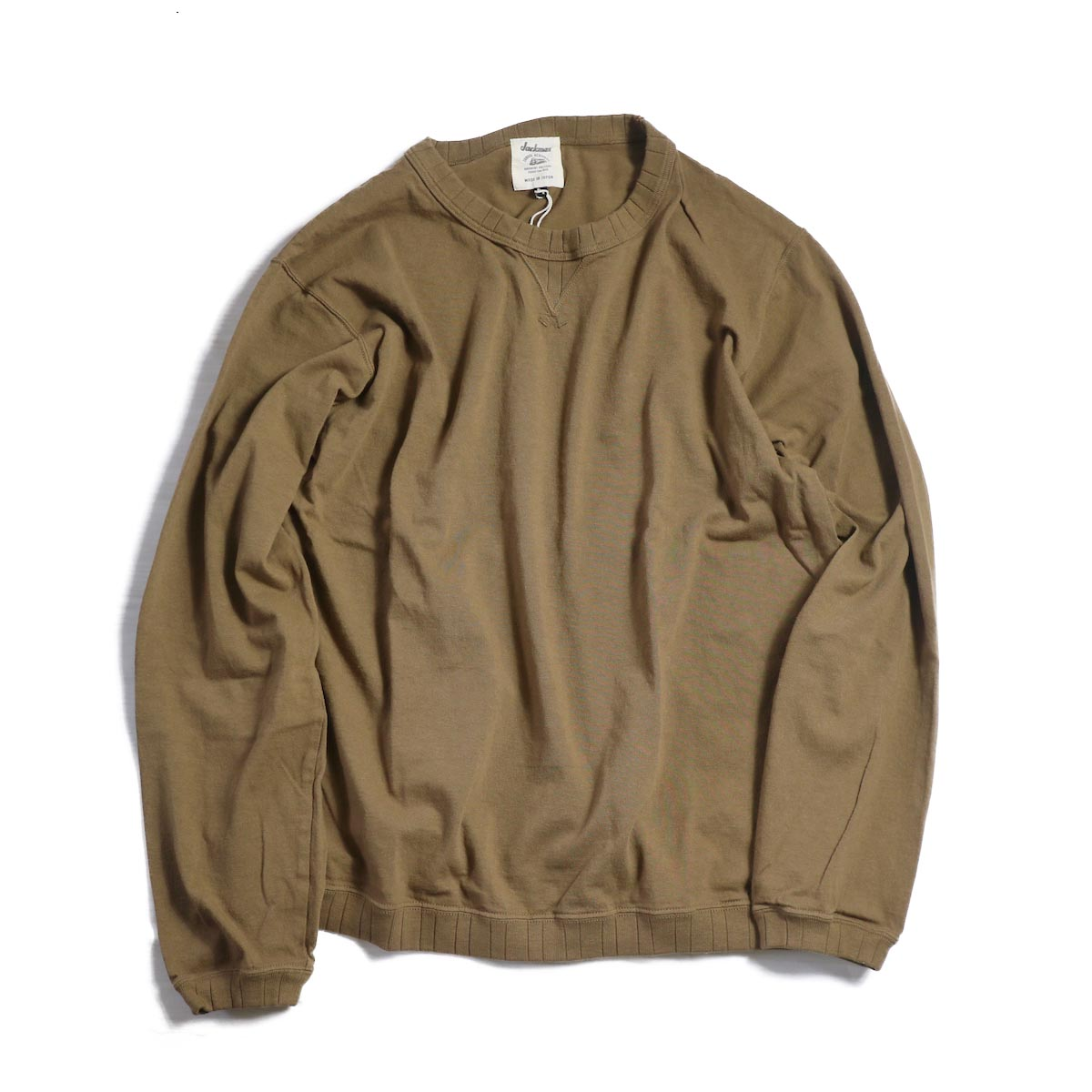 Jackman / Rib Long Sleeve -BROWN