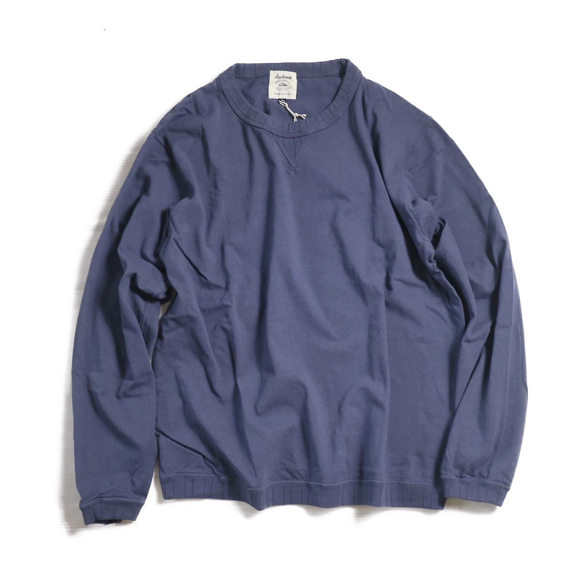 Jackman / Rib Long Sleeve -NAVY