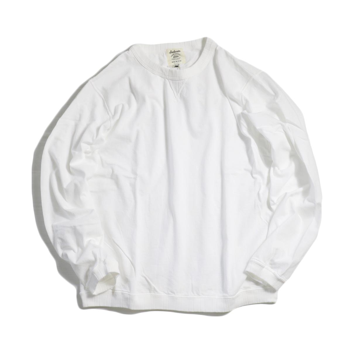 Jackman / Rib Long Sleeve -WHITE