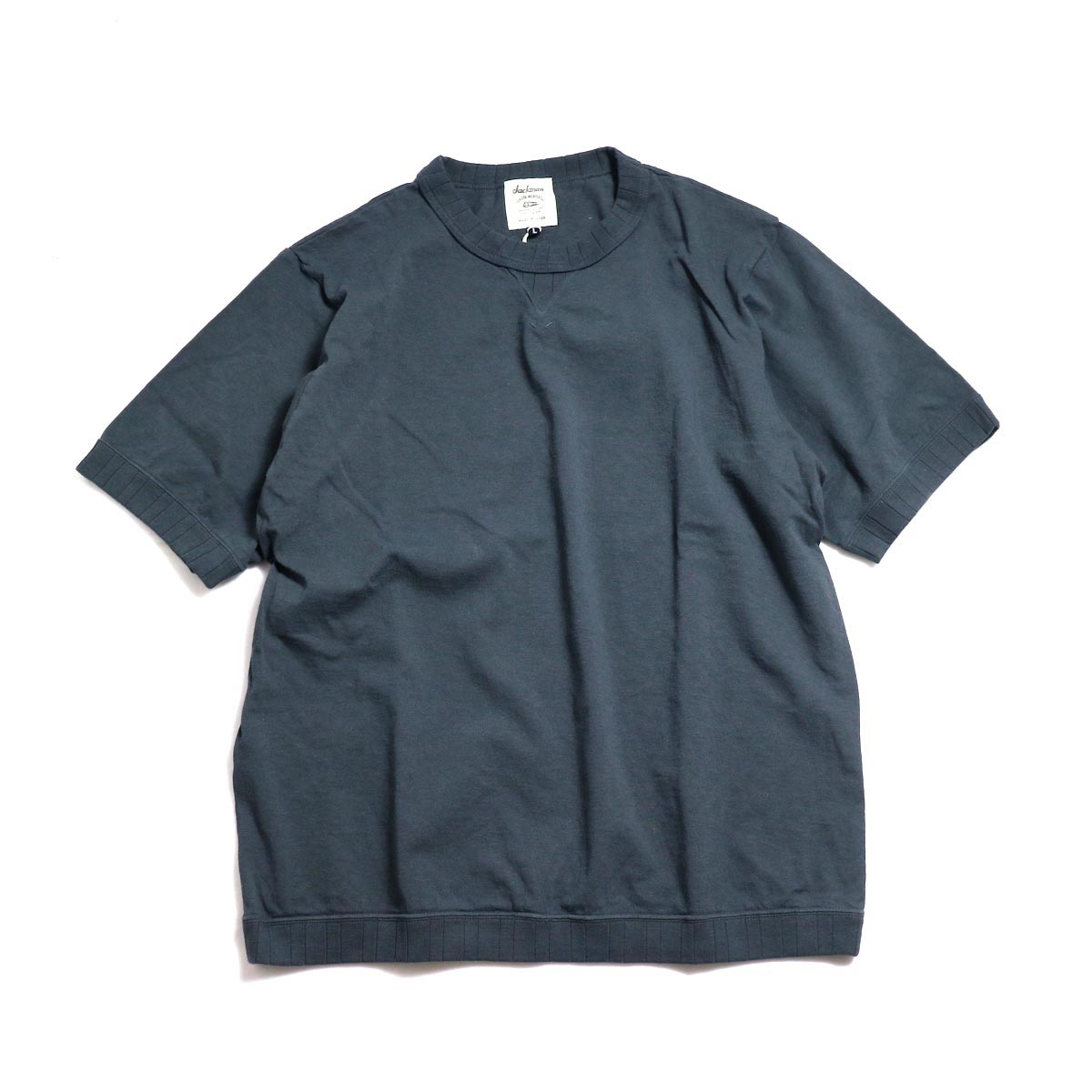 Jackman / Rib T-Shirt -Dark Gray