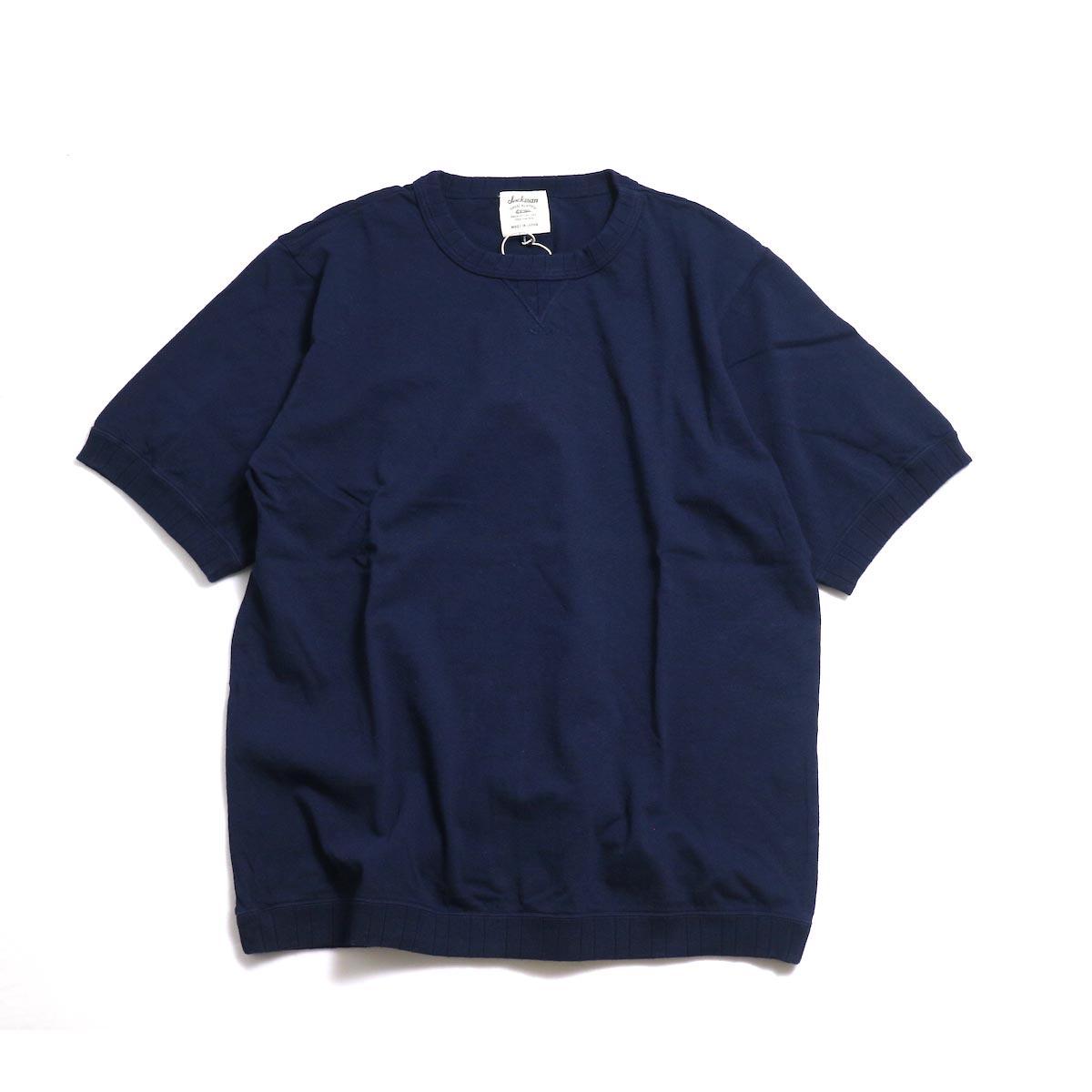 Jackman / Rib T-Shirt -Navy