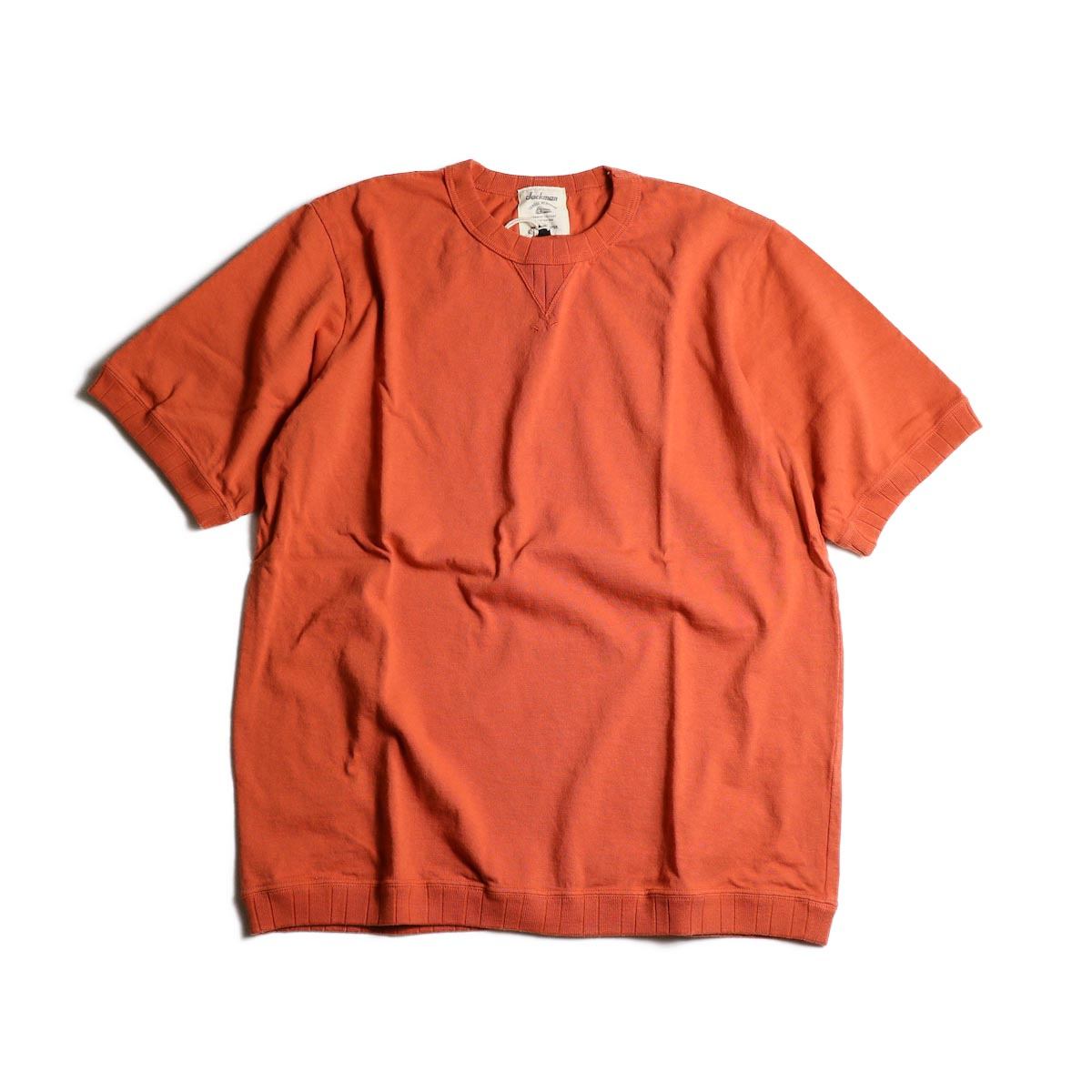Jackman / Rib T-Shirt (Sunset Orange)正面