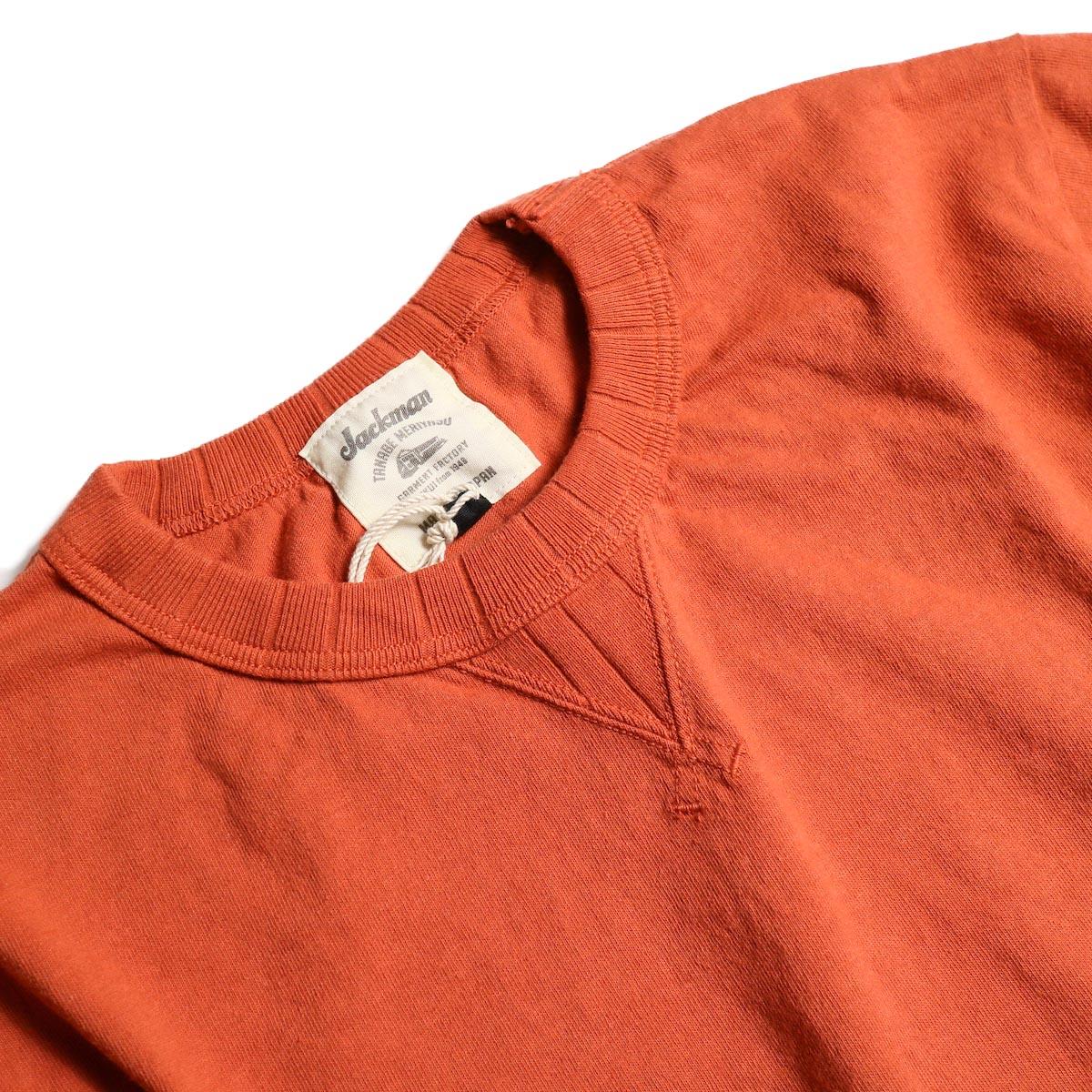 Jackman / Rib T-Shirt (Sunset Orange) ガセット