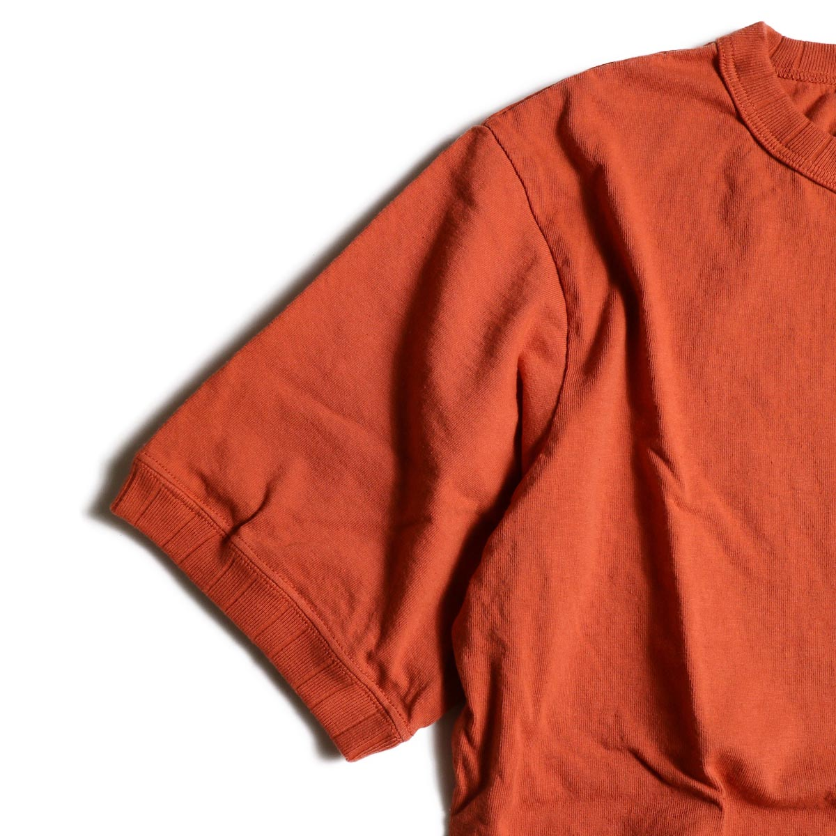 Jackman / Rib T-Shirt (Sunset Orange)  袖