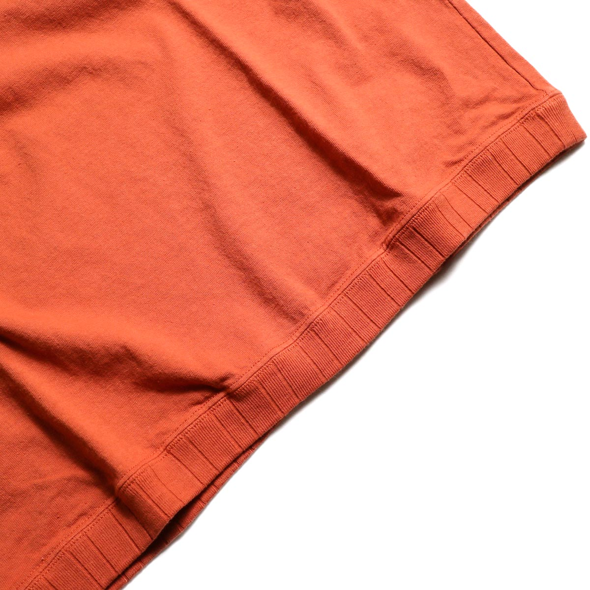 Jackman / Rib T-Shirt (Sunset Orange)  裾リブ
