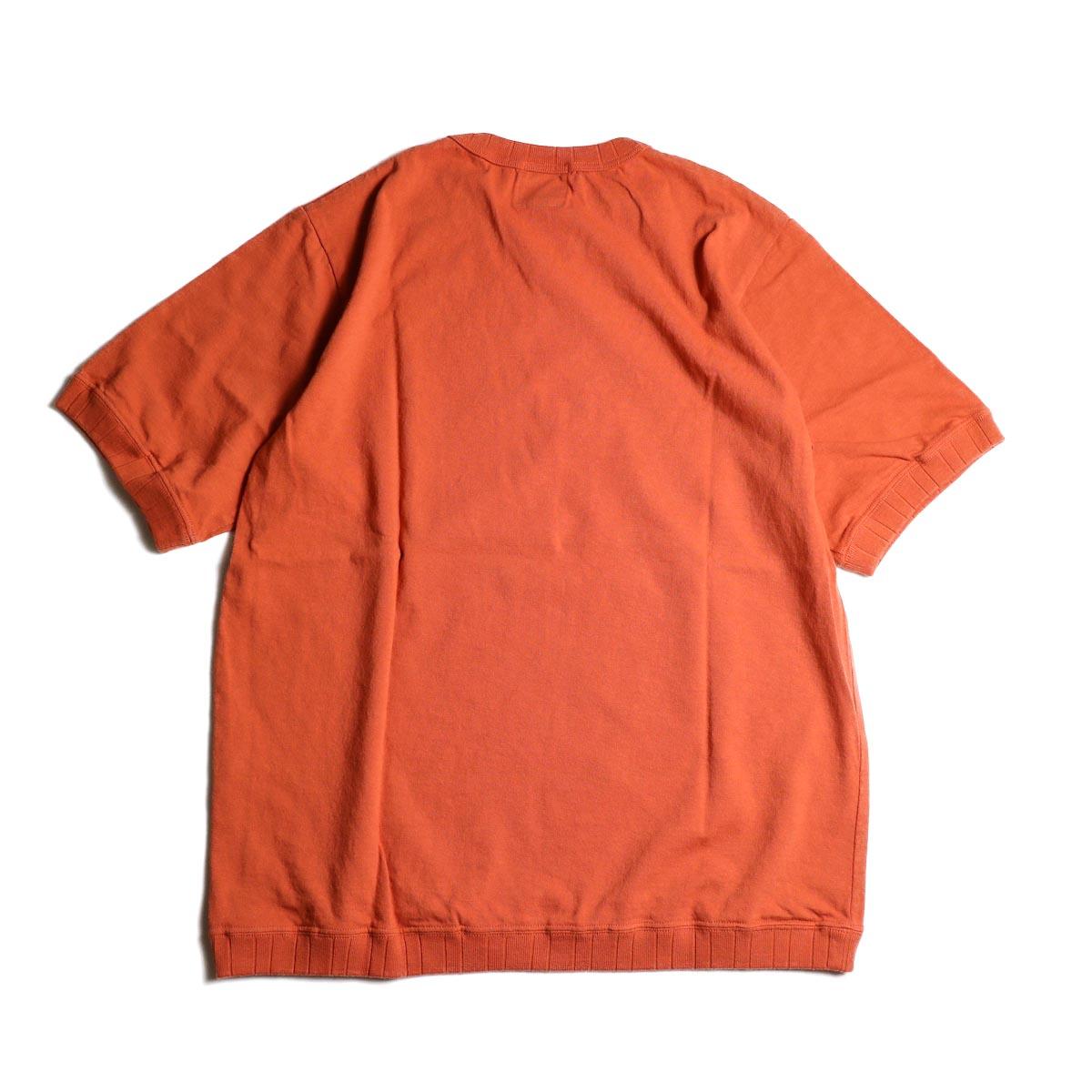 Jackman / Rib T-Shirt (Sunset Orange)  背面