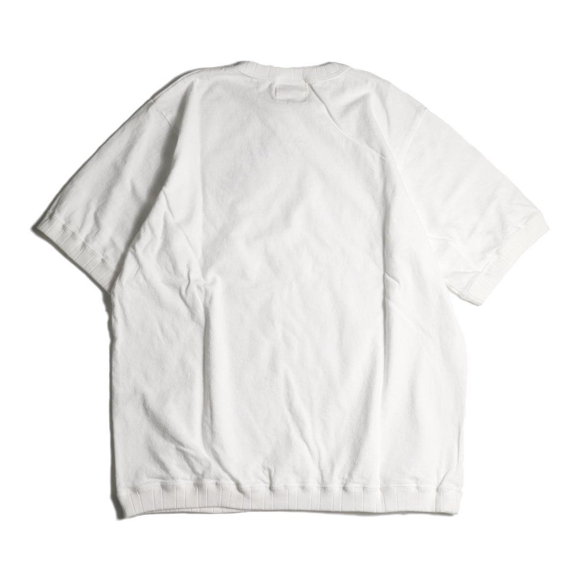 Jackman / Rib T-Shirt (White) 背面