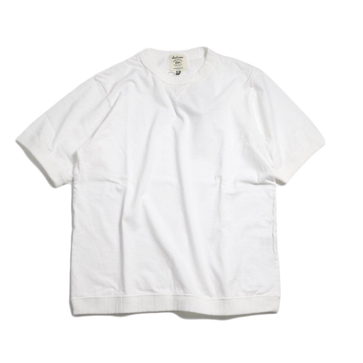 Jackman / Rib T-Shirt -White
