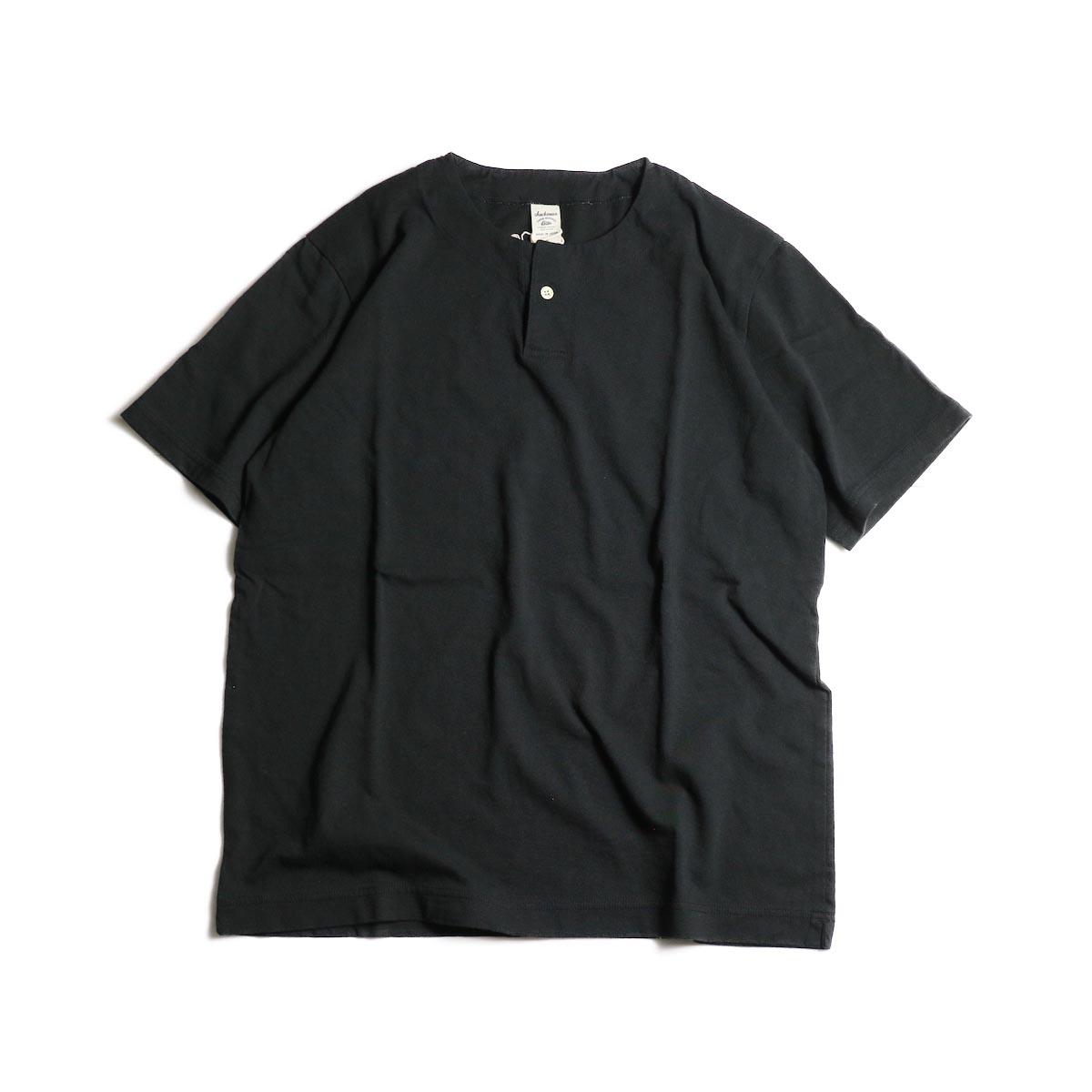Jackman / Henley neck T-Shirt (Black)