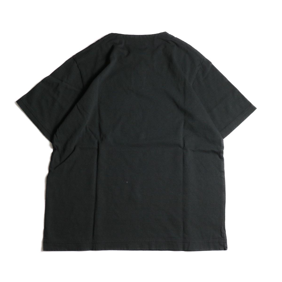 Jackman / Henley neck T-Shirt (Black)背面