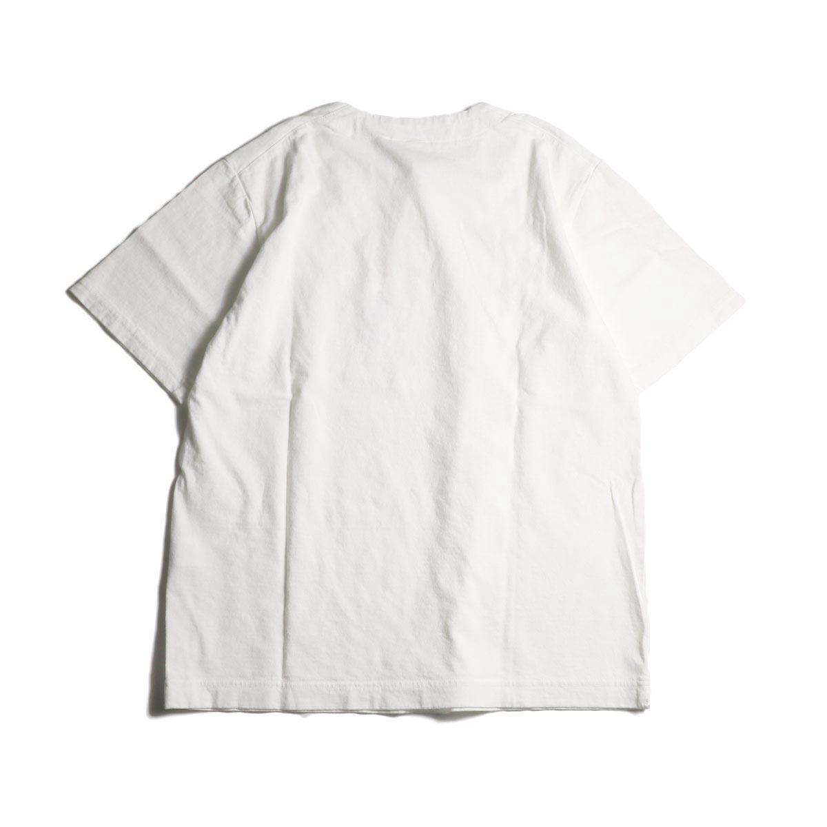 Jackman / Henley neck T-Shirt (White)背面