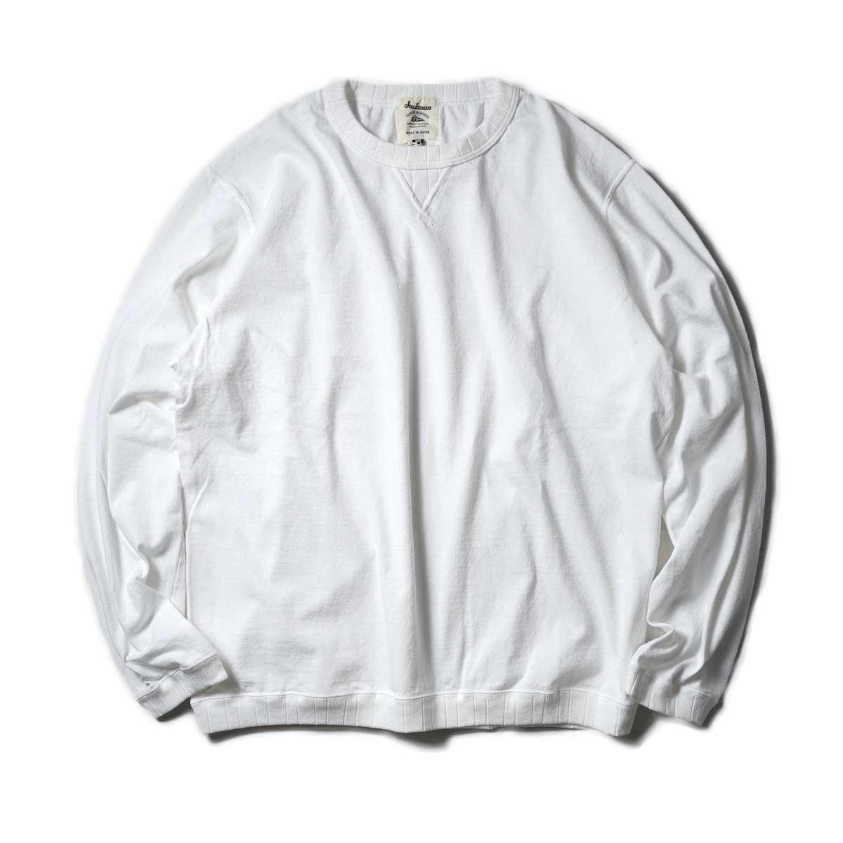 Jackman / Rib LS T-Shirt (White)