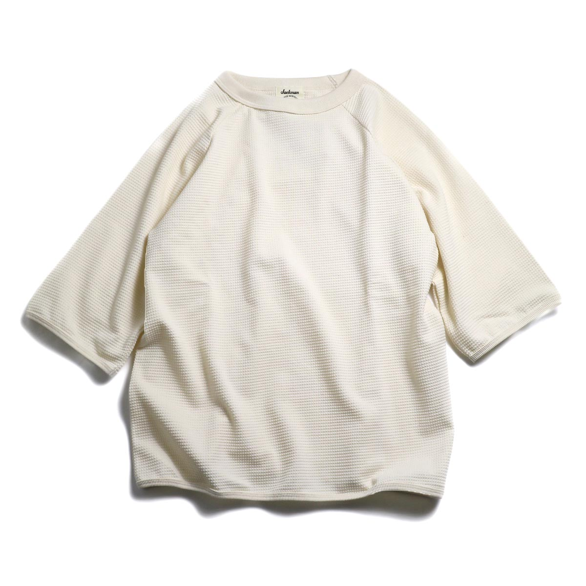 Jackman / 1/2 Sleeved T-Shirt -Ivory