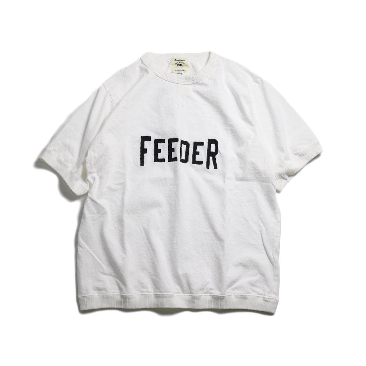 Jackman / Rib T-Shirt (FEEDER) -White