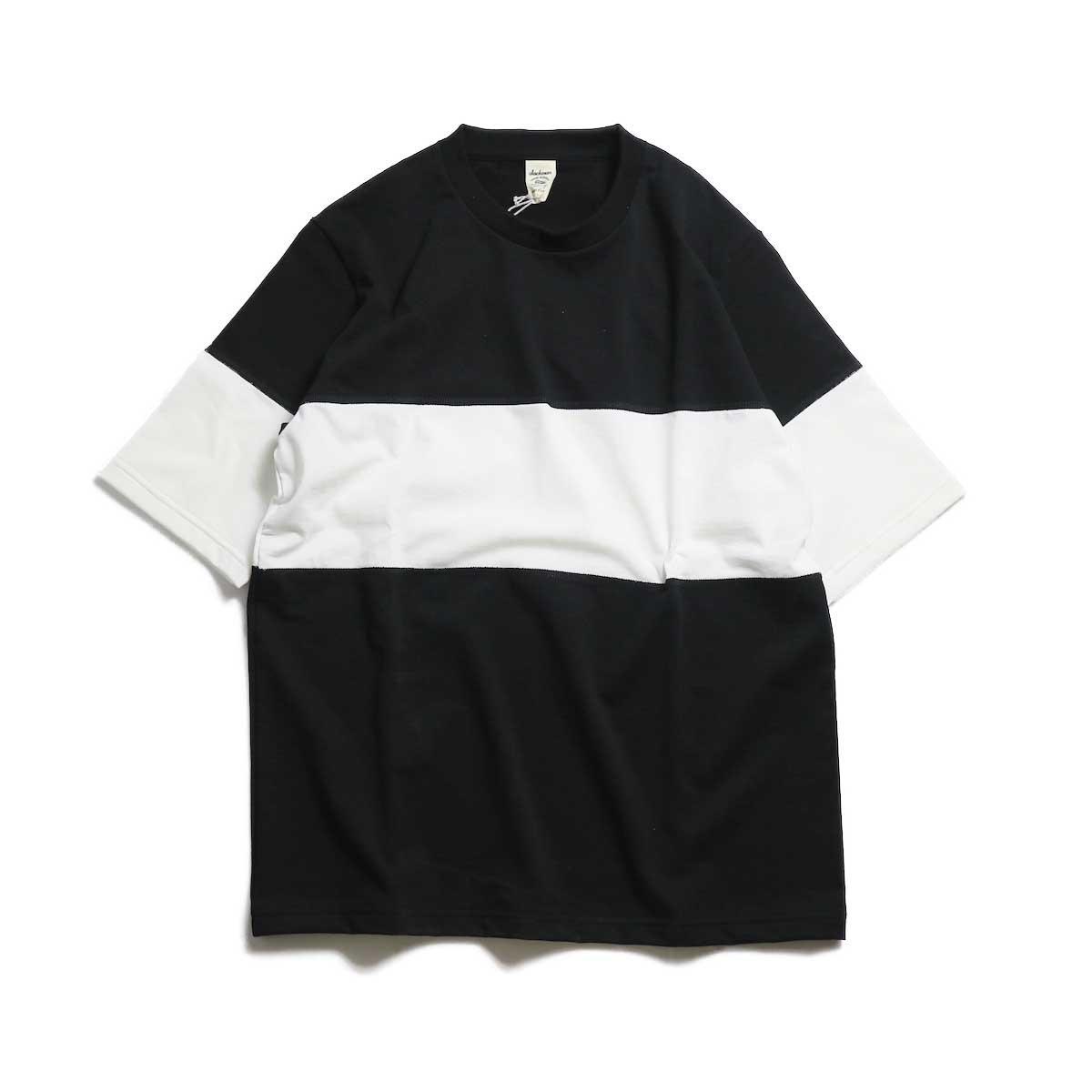 Jackman / Border T-Shirt -Black×White 2S