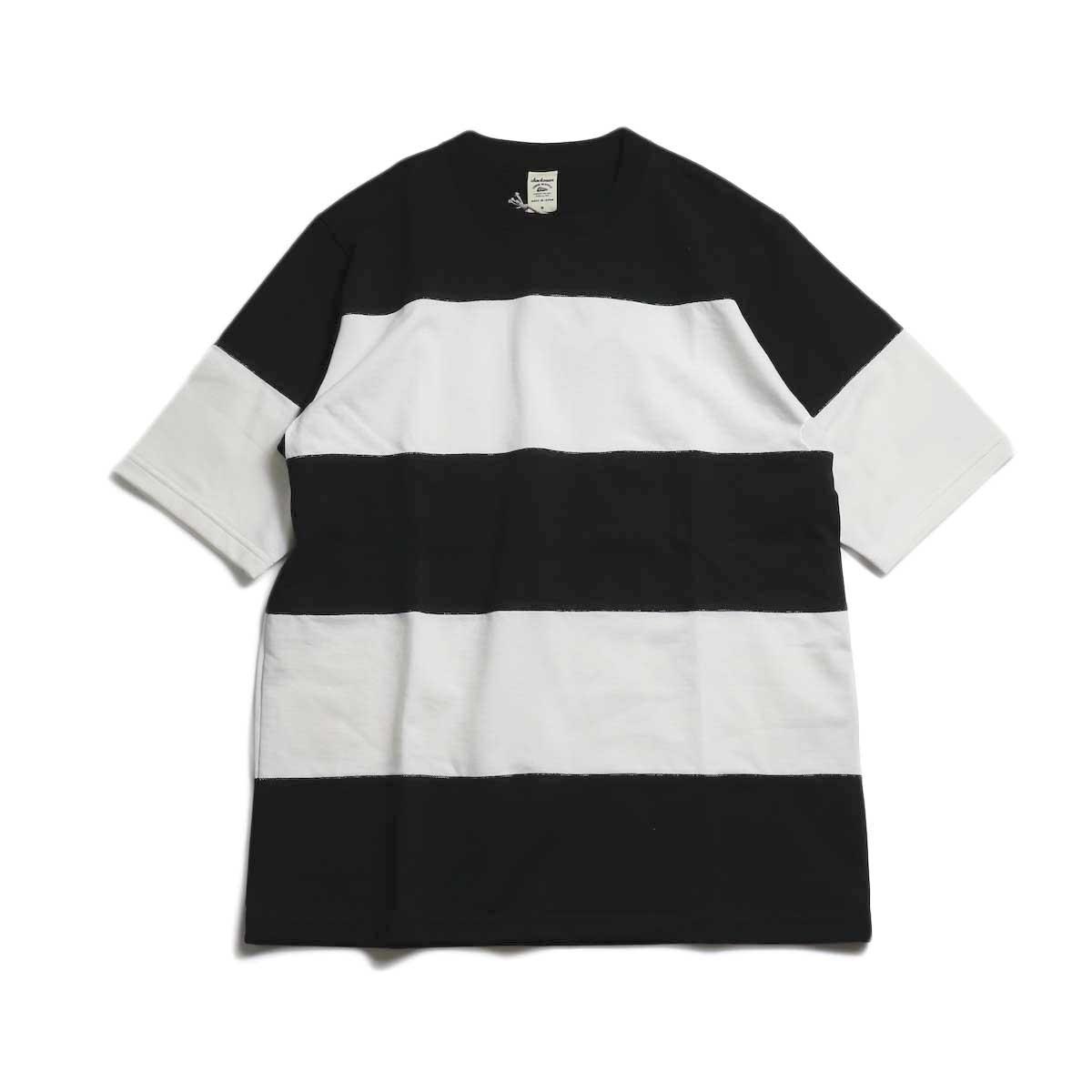 Jackman / Border T-Shirt -Black×White 4S