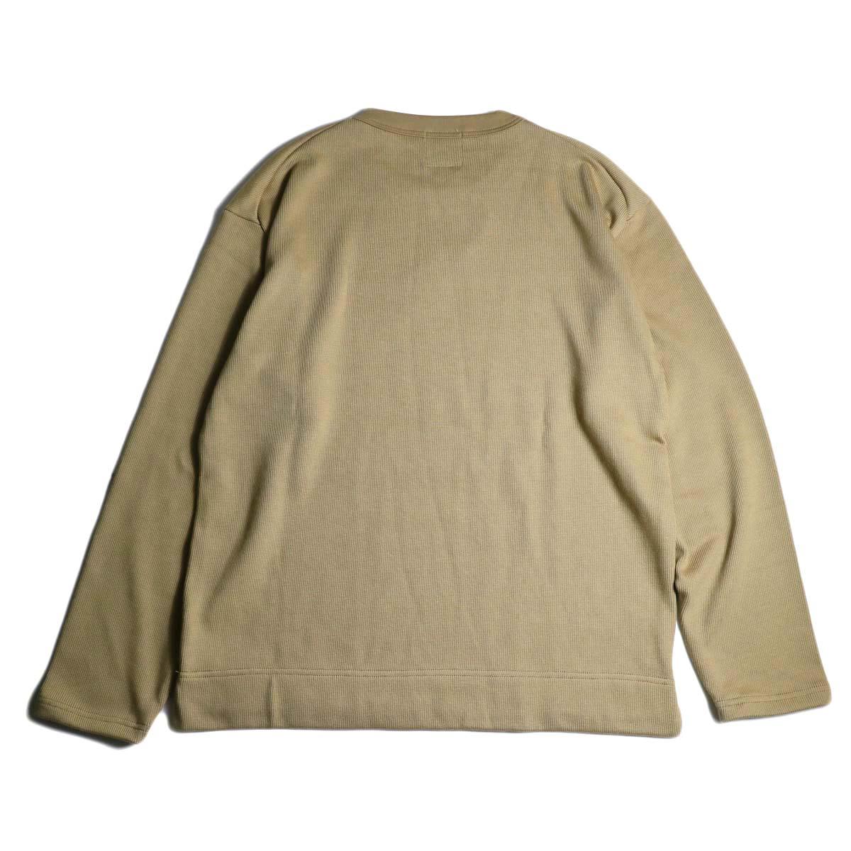 Jackman / Heavy Pima Crewneck (beige) 背面