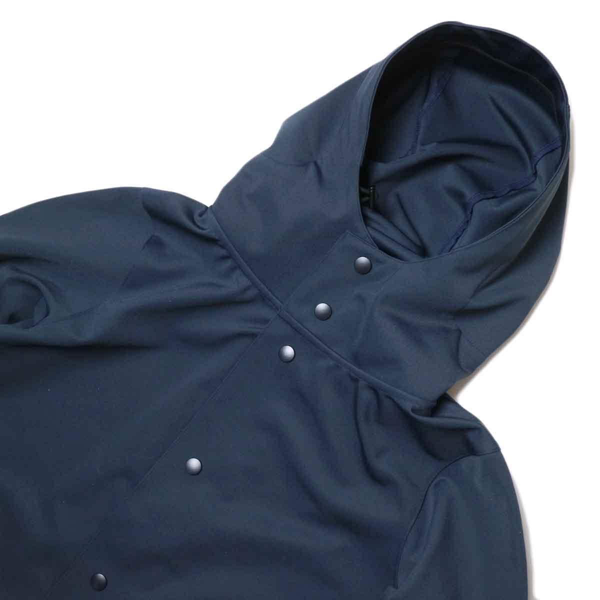 Jackman / High-density Jersey Coat (Navy) フード