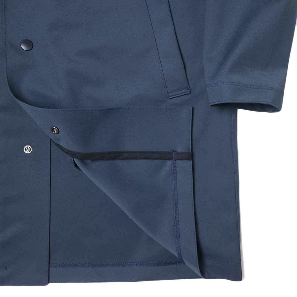 Jackman / High-density Jersey Coat (Navy) 襟・裾