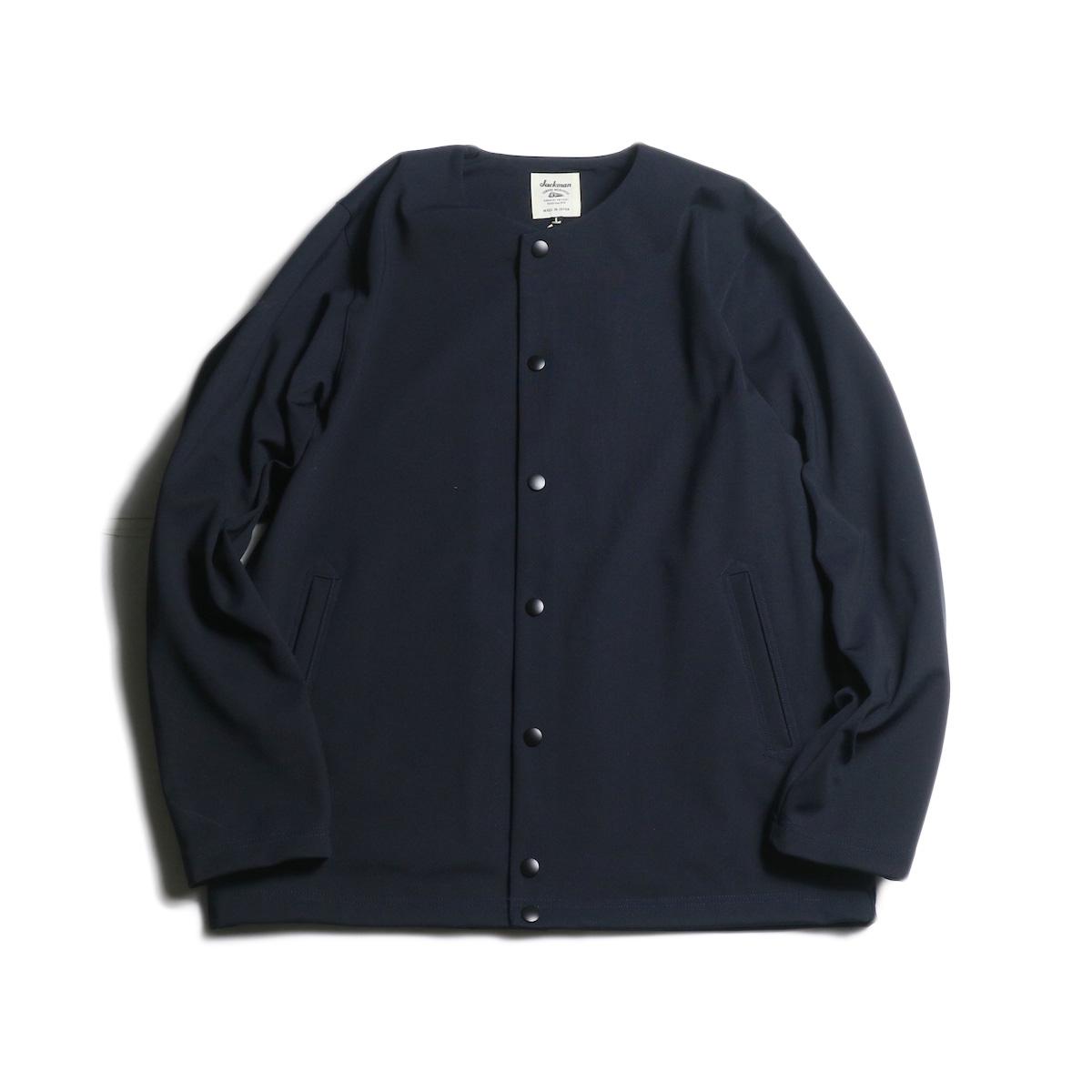 Jackman / Jersey Collarless Jacket (Dark Navy)