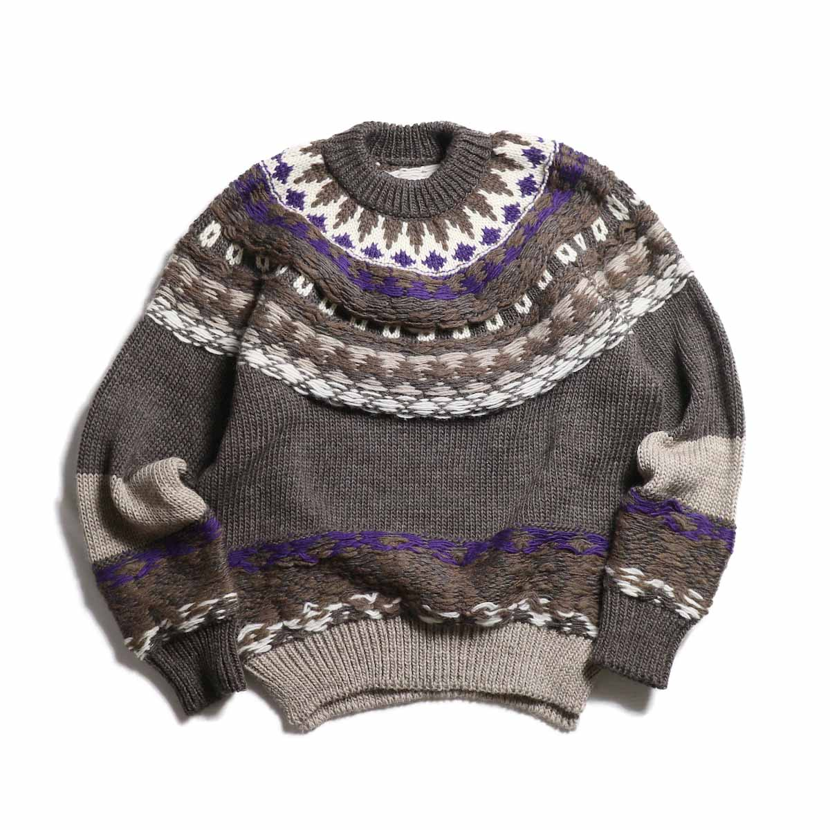 JANE SMITH / Nordic Knit -BROWN