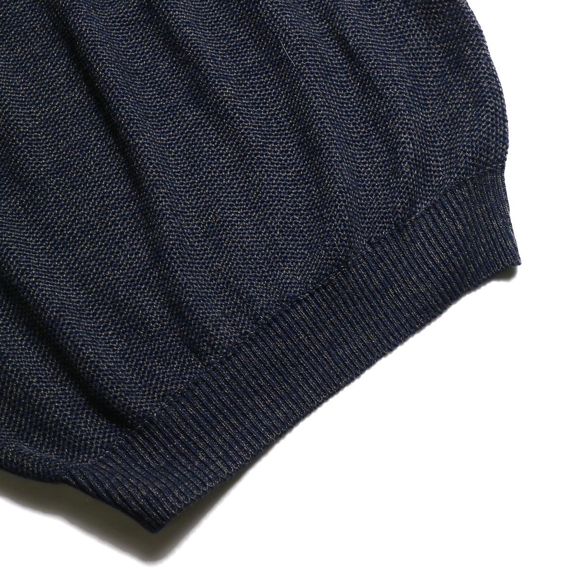 JANE SMITH / Over Vest (Navy Mix)裾
