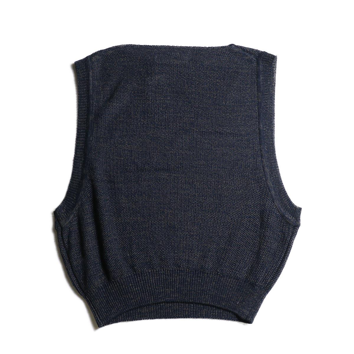 JANE SMITH / Over Vest (Navy Mix)背面
