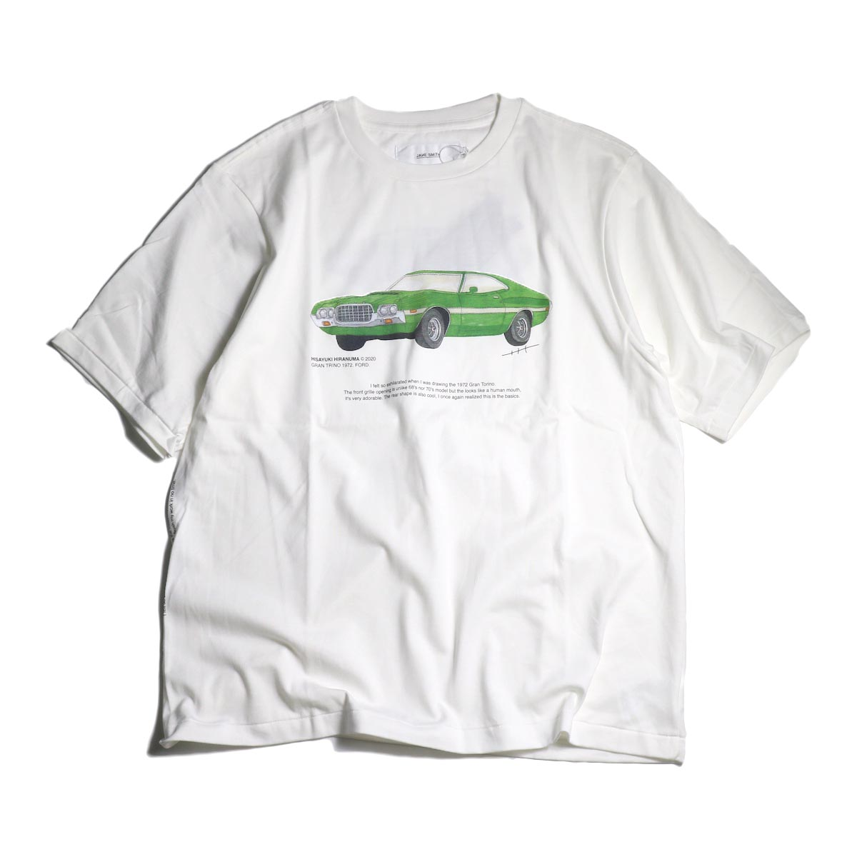 JANE SMITH / Print Tee (GRAN TRINO. FORD 1972 S/S)正面