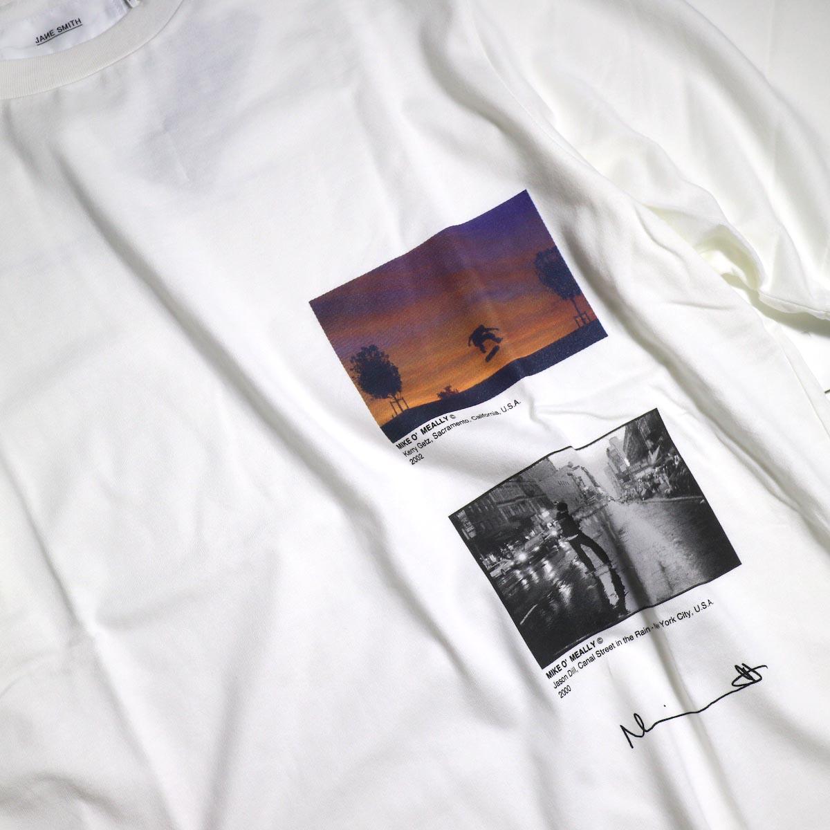 JANE SMITH / Print Tee (KERRY GETZ & JASON DULL,CANAL STREET IN THE RAIN S/S) -Whiteプリント