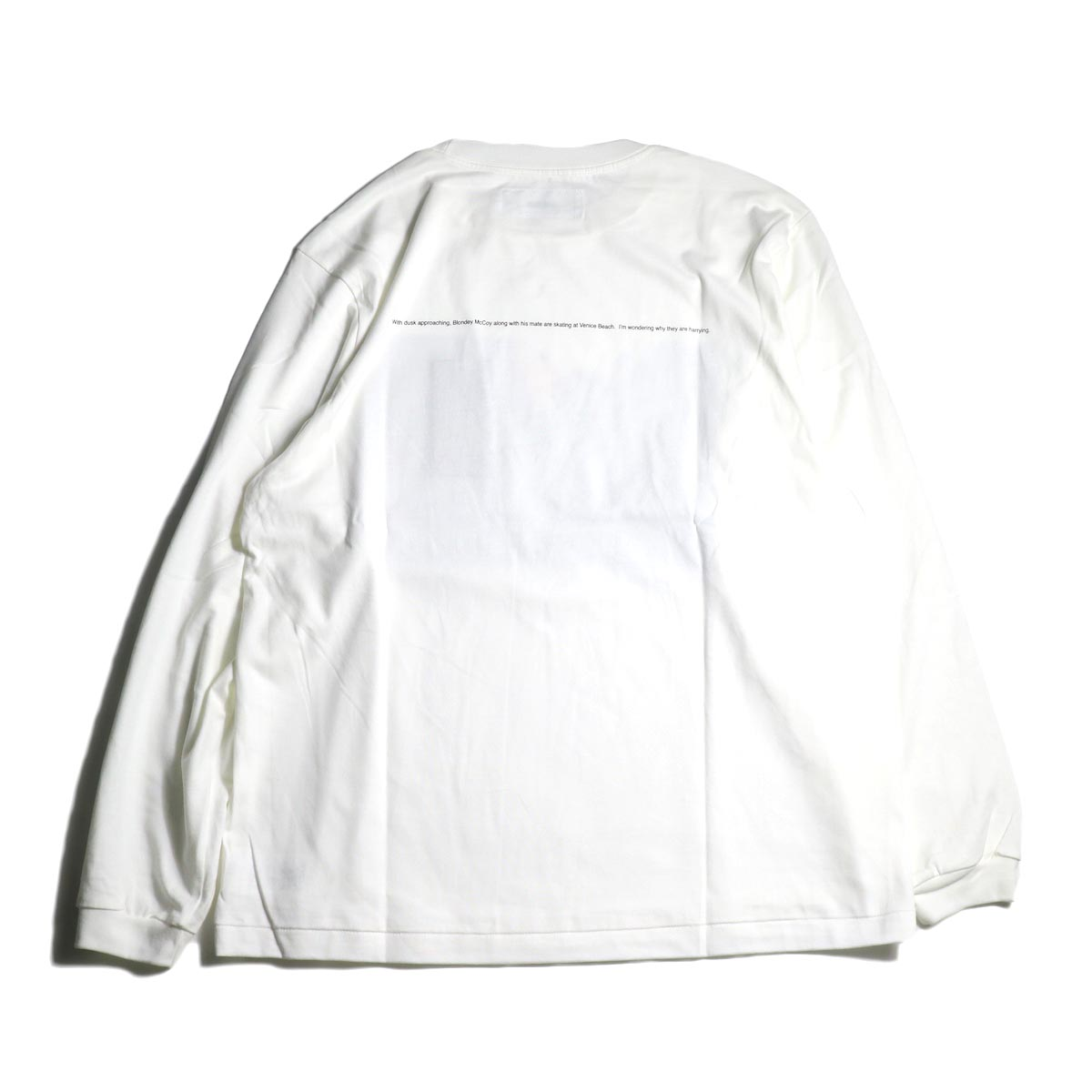 JANE SMITH / Print Tee (BLONDEY MCCOY L/S) -White背面