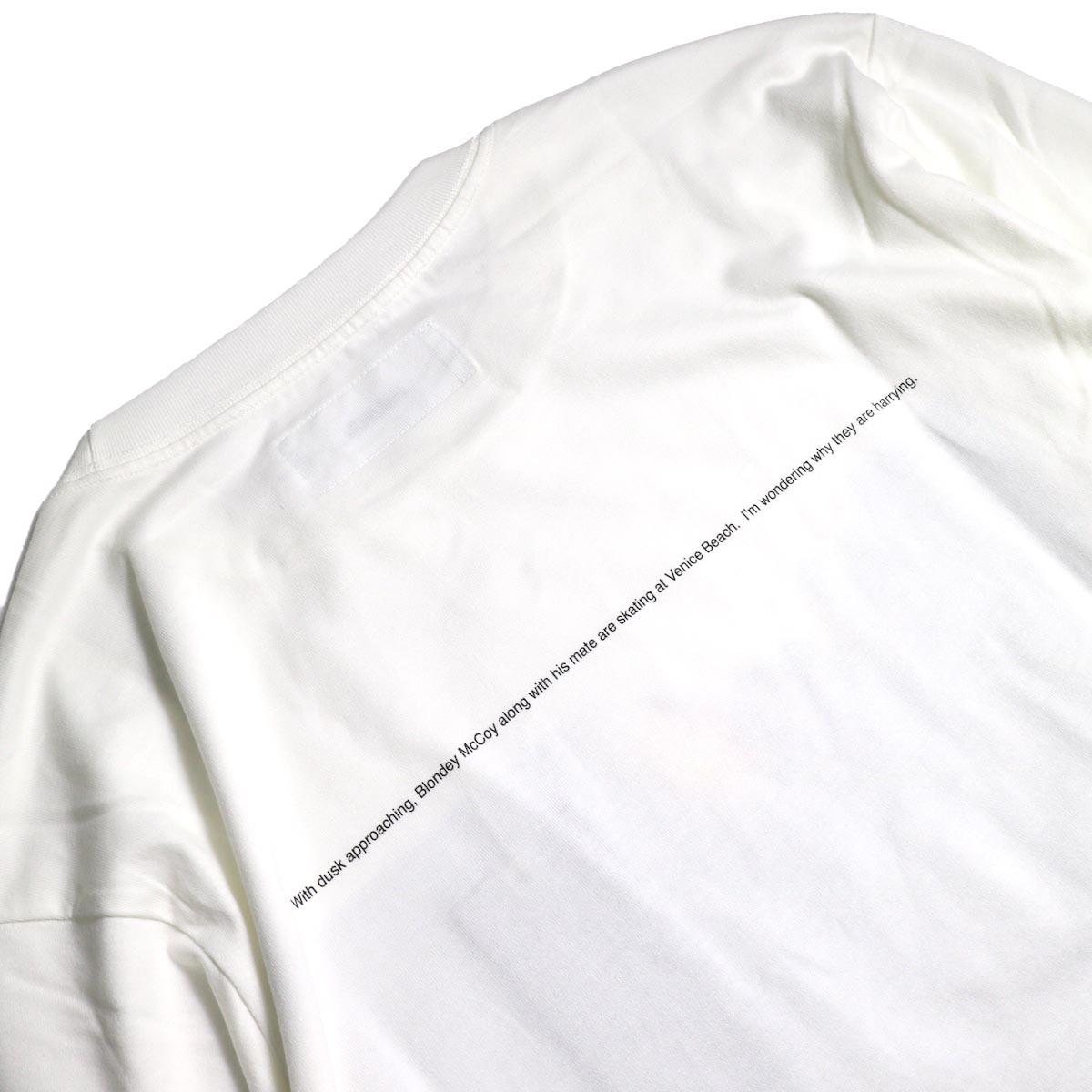 JANE SMITH / Print Tee (BLONDEY MCCOY L/S) -White背面プリント