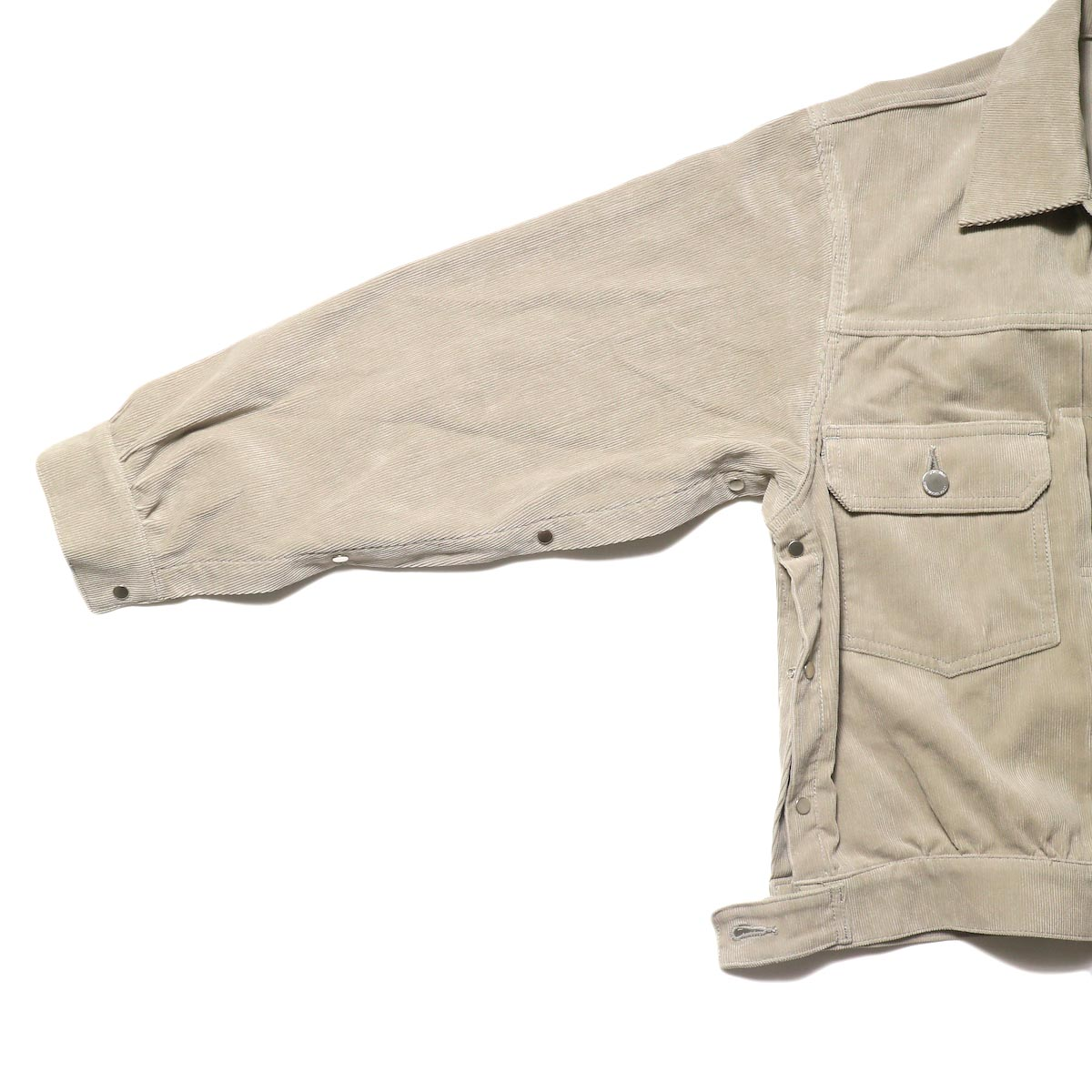 JANE SMITH / TRUCKER JACKET (fawn beige) サイドスナップ①