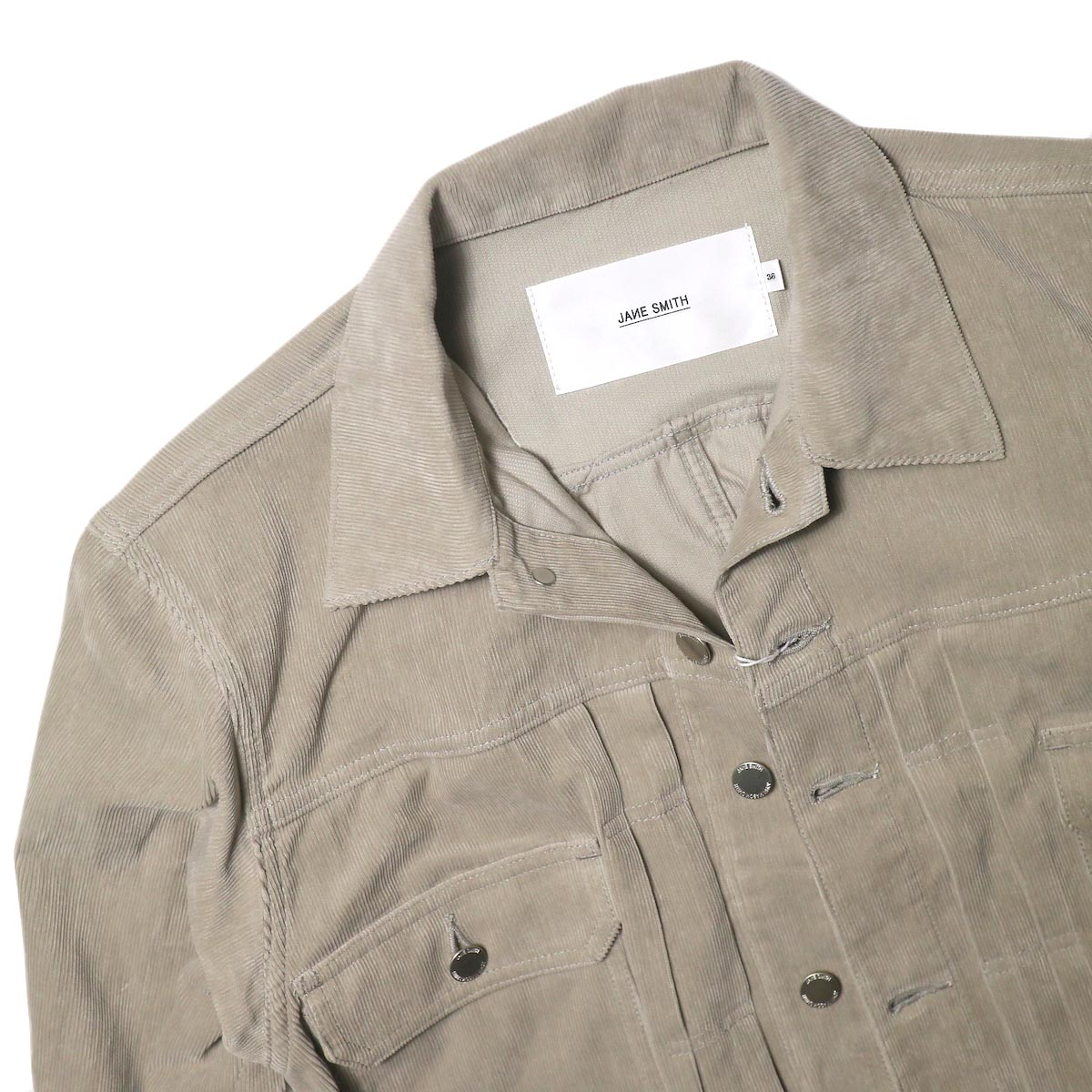 JANE SMITH / TRUCKER JACKET (fawn beige) 襟