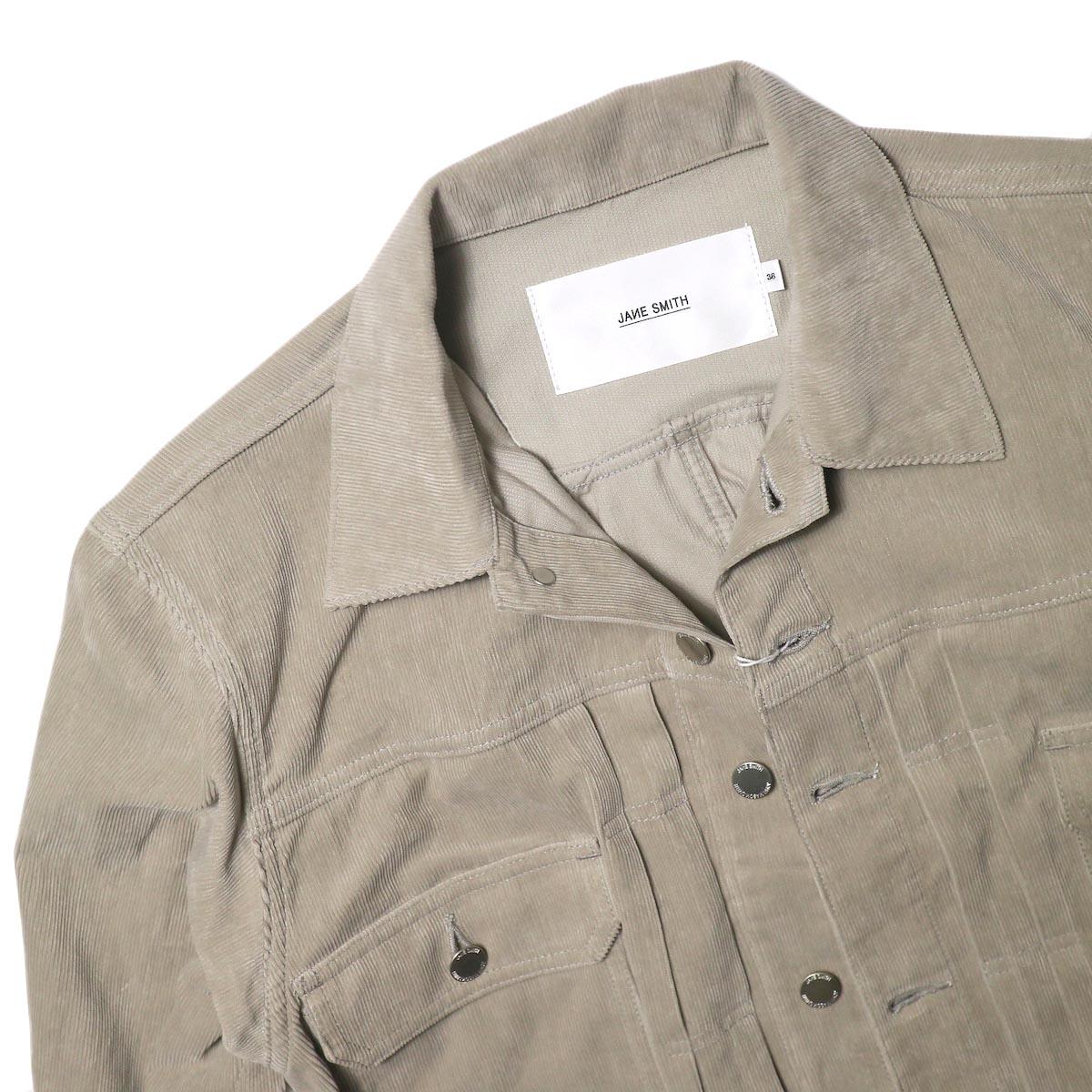 JANE SMITH / TRUCKER JACKET (fawn beige) 襟