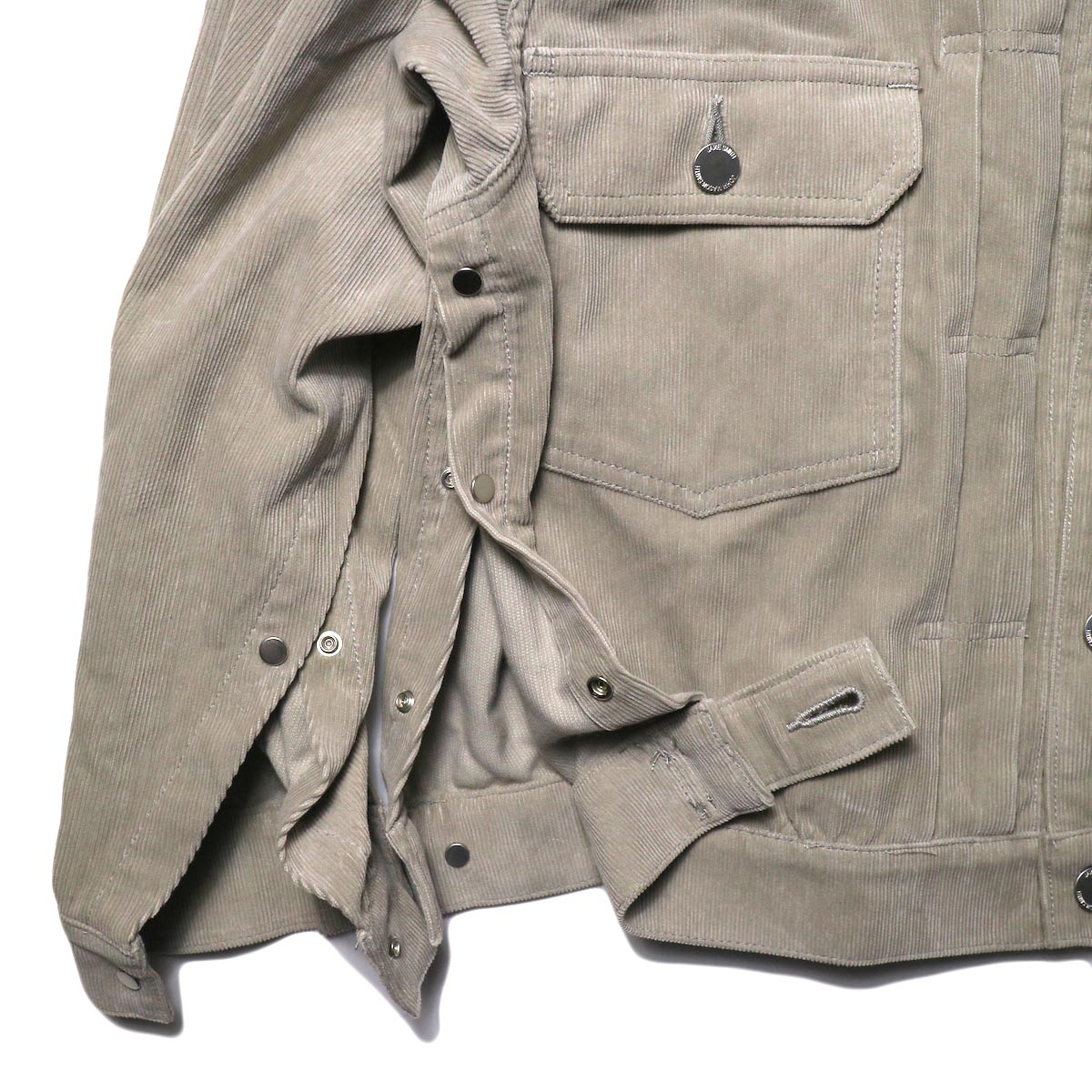 JANE SMITH / TRUCKER JACKET (fawn beige) サイドスナップ③