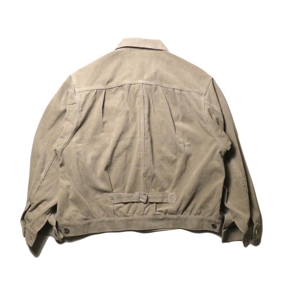 JANE SMITH / TRUCKER JACKET (fawn beige) 背面
