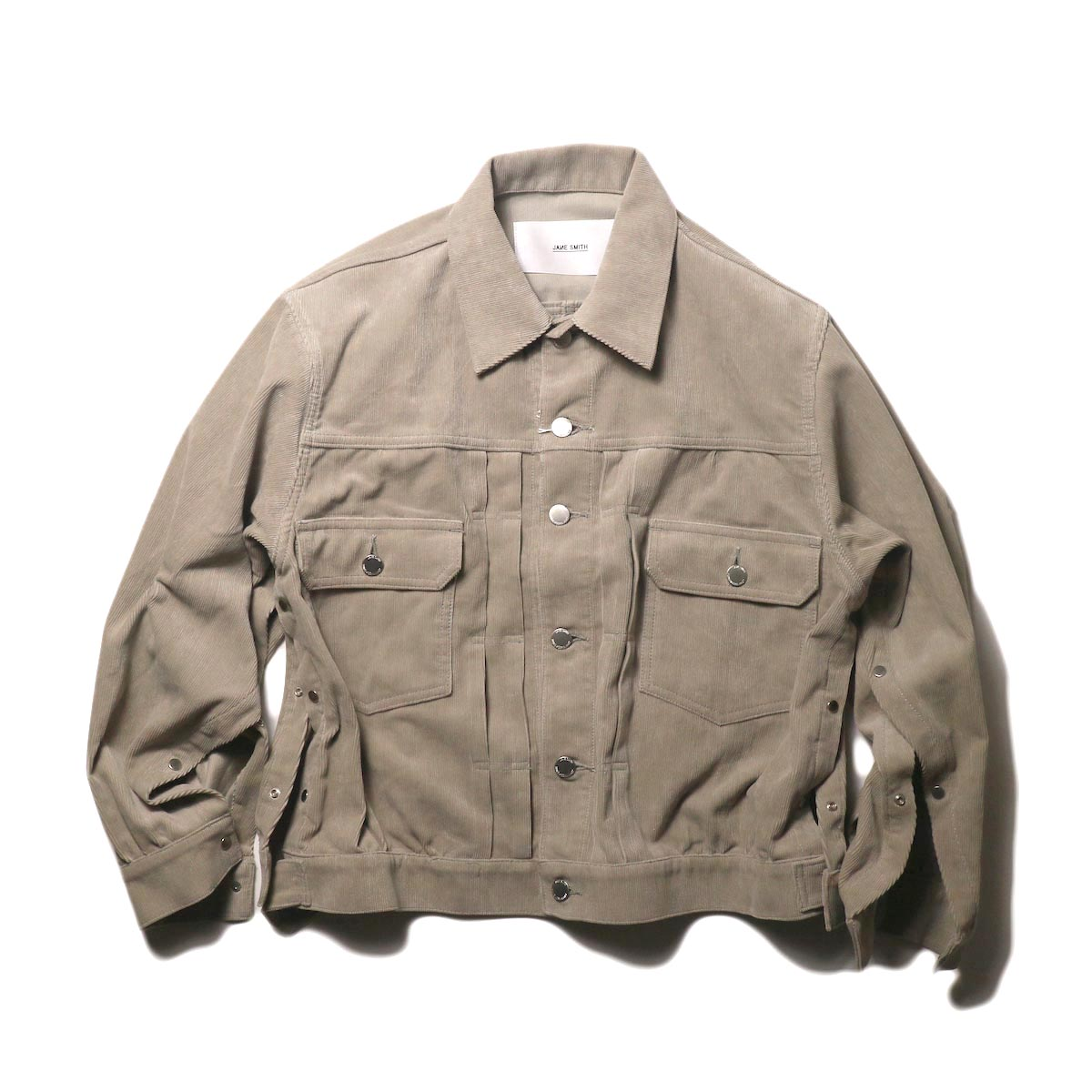 JANE SMITH / TRUCKER JACKET (fawn beige) 正面