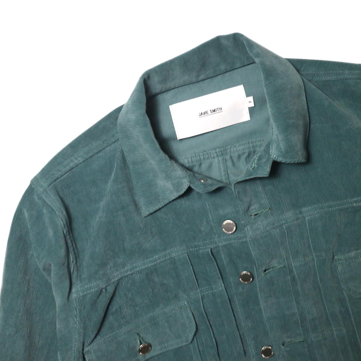 JANE SMITH / TRUCKER JACKET (jade green) 襟
