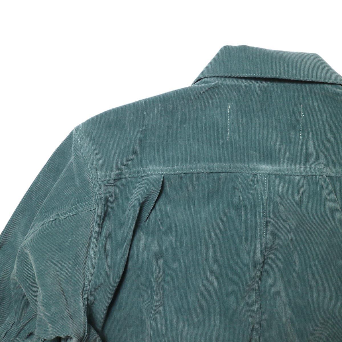 JANE SMITH / TRUCKER JACKET (jade green) 背面アップ