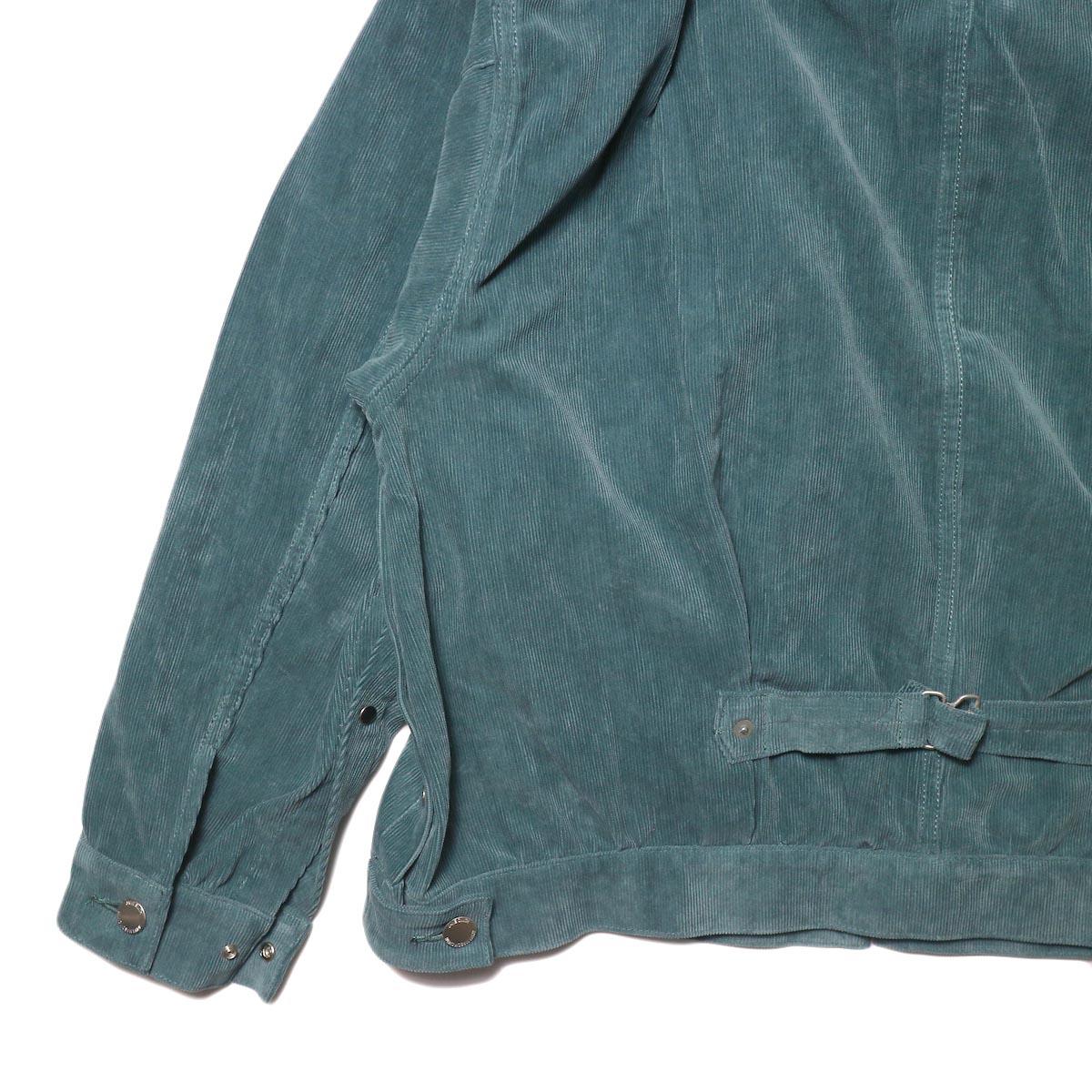 JANE SMITH / TRUCKER JACKET (jade green) 背面 袖・裾