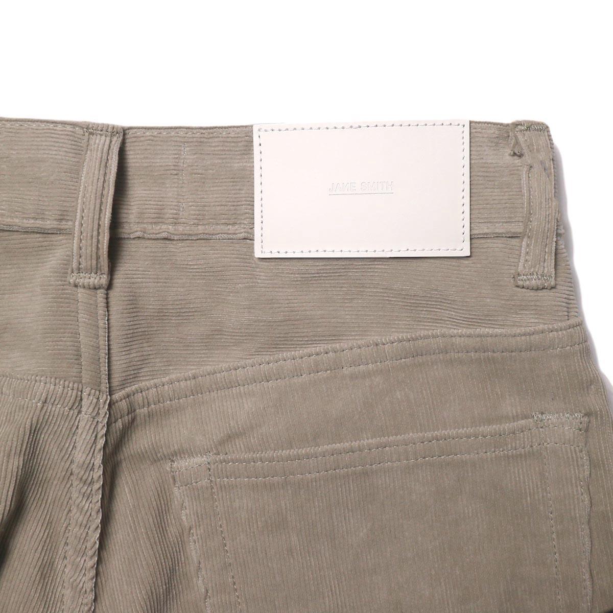 JANE SMITH / 5POCKET BOOTSCUT (fawn beige) 背面ポケット